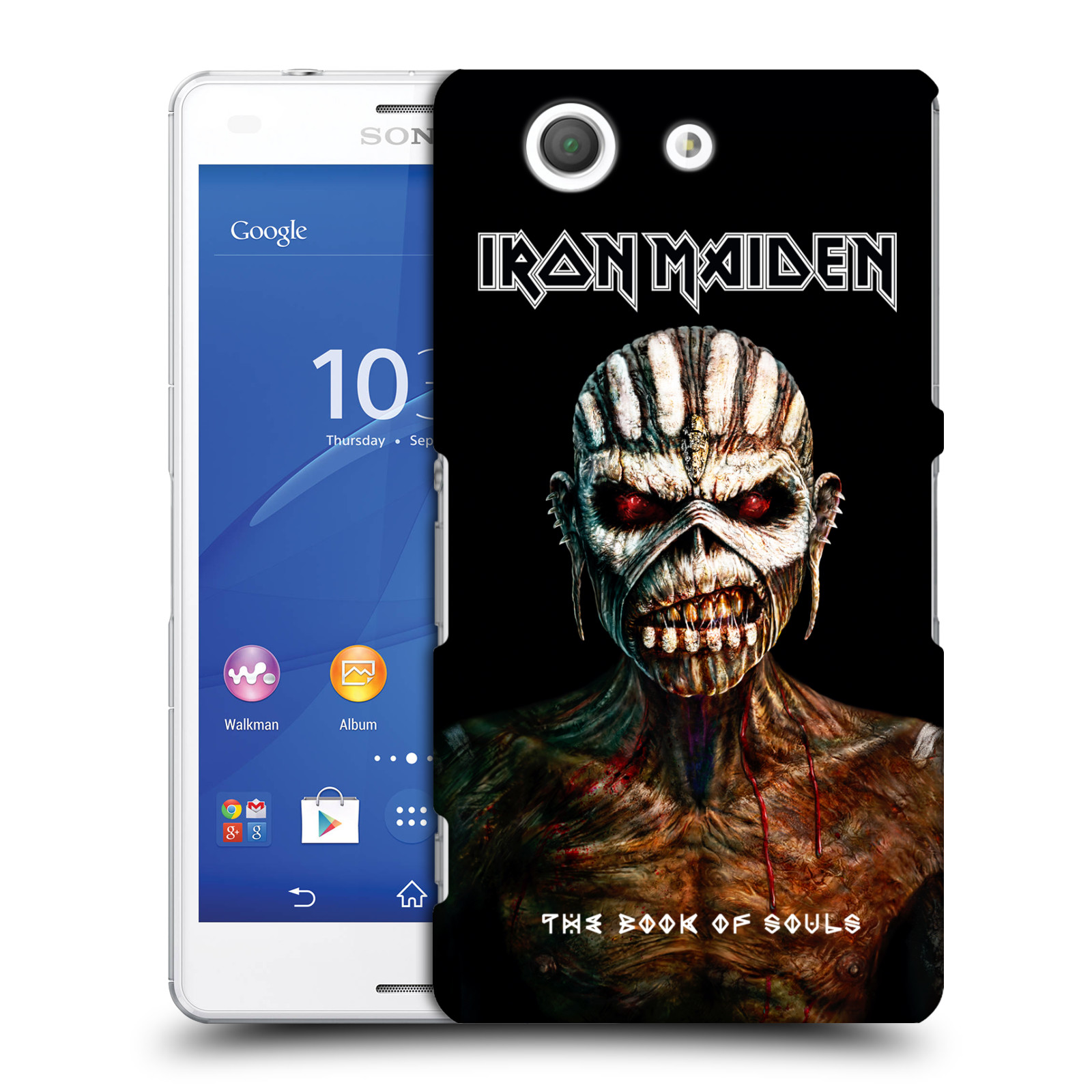 Plastové pouzdro na mobil Sony Xperia Z3 Compact D5803 HEAD CASE - Iron Maiden - The Book Of Souls