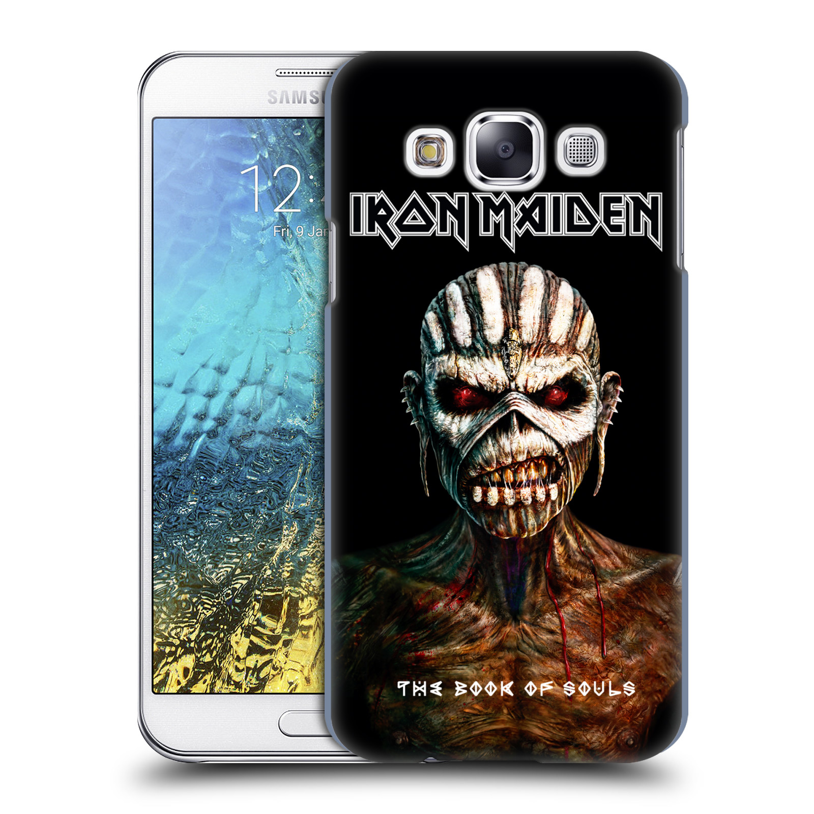 Plastové pouzdro na mobil Samsung Galaxy E5 HEAD CASE - Iron Maiden - The Book Of Souls