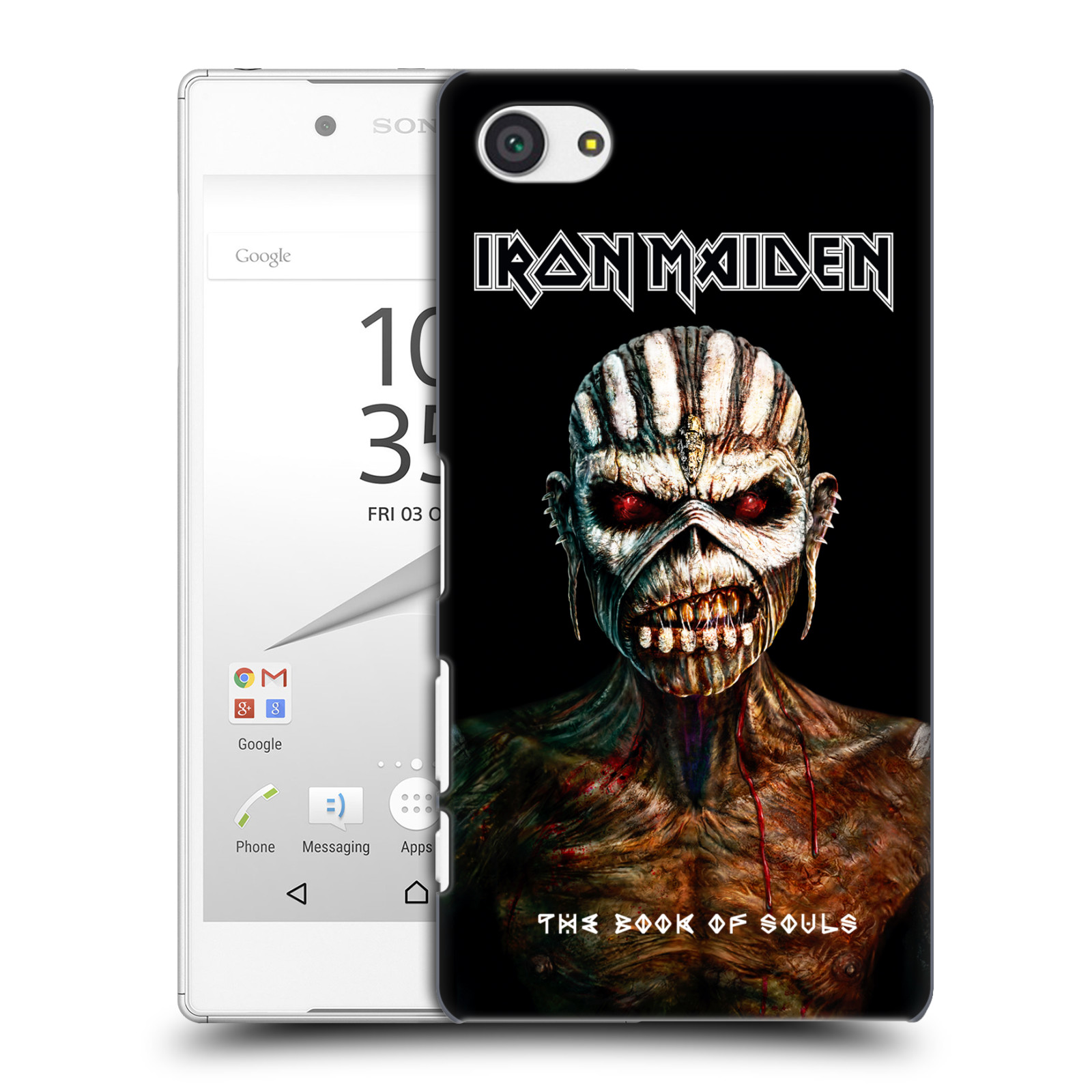 Plastové pouzdro na mobil Sony Xperia Z5 Compact HEAD CASE - Iron Maiden - The Book Of Souls