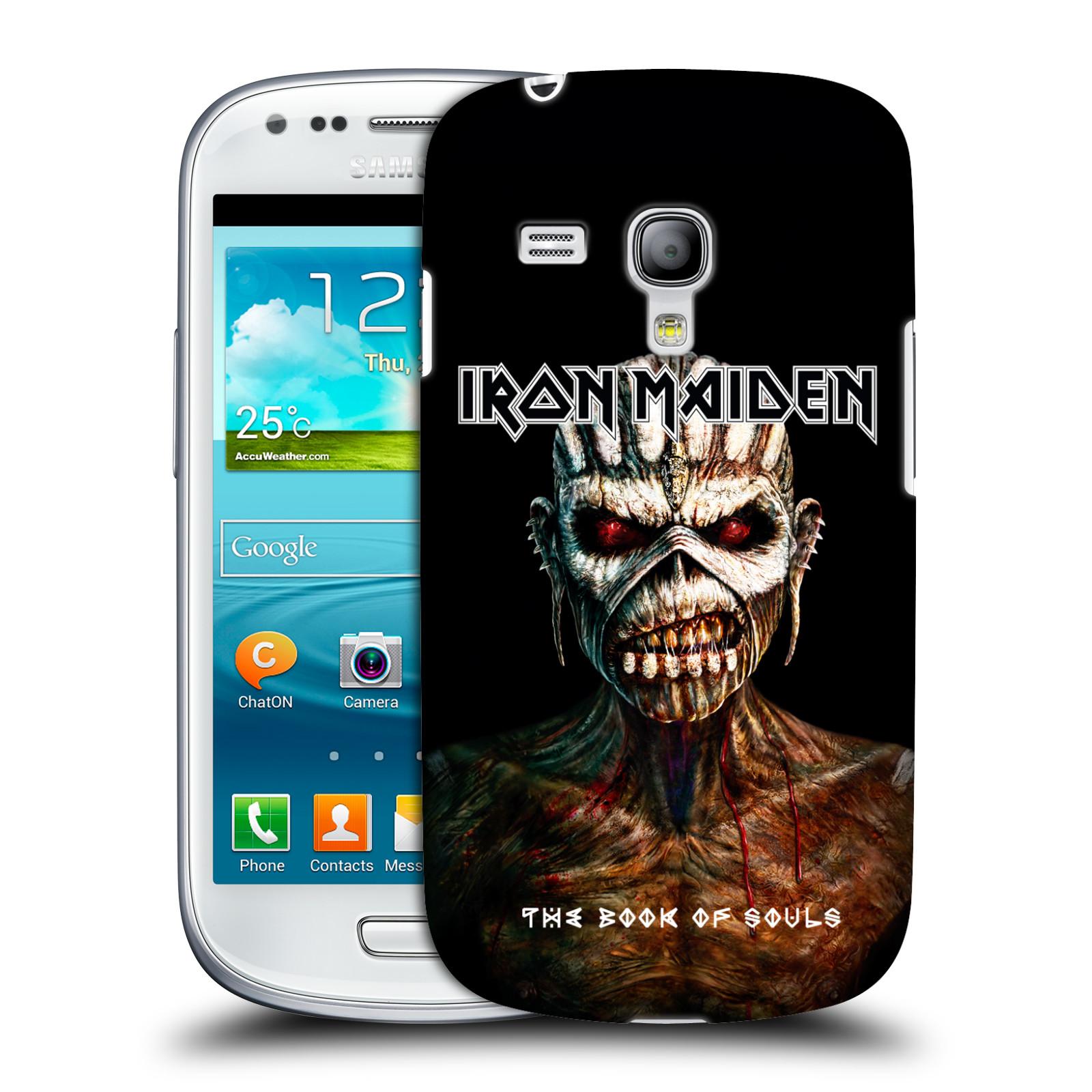 Silikonové pouzdro na mobil Samsung Galaxy S III Mini VE HEAD CASE - Iron Maiden - The Book Of Souls (Plastový kryt či obal na mobilní telefon s licencovaným motivem Iron Maiden Samsung Galaxy S3 Mini VE GT-i8200)