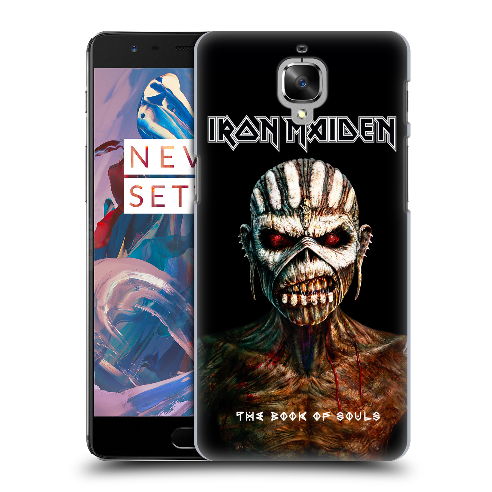 Plastové pouzdro na mobil OnePlus 3 HEAD CASE - Iron Maiden - The Book Of Souls