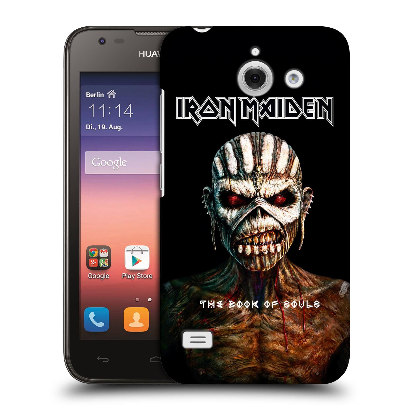 Plastové pouzdro na mobil Huawei Ascend Y550 HEAD CASE - Iron Maiden - The Book Of Souls (Plastový kryt či obal na mobilní telefon s licencovaným motivem Iron Maiden Huawei Ascend Y550)