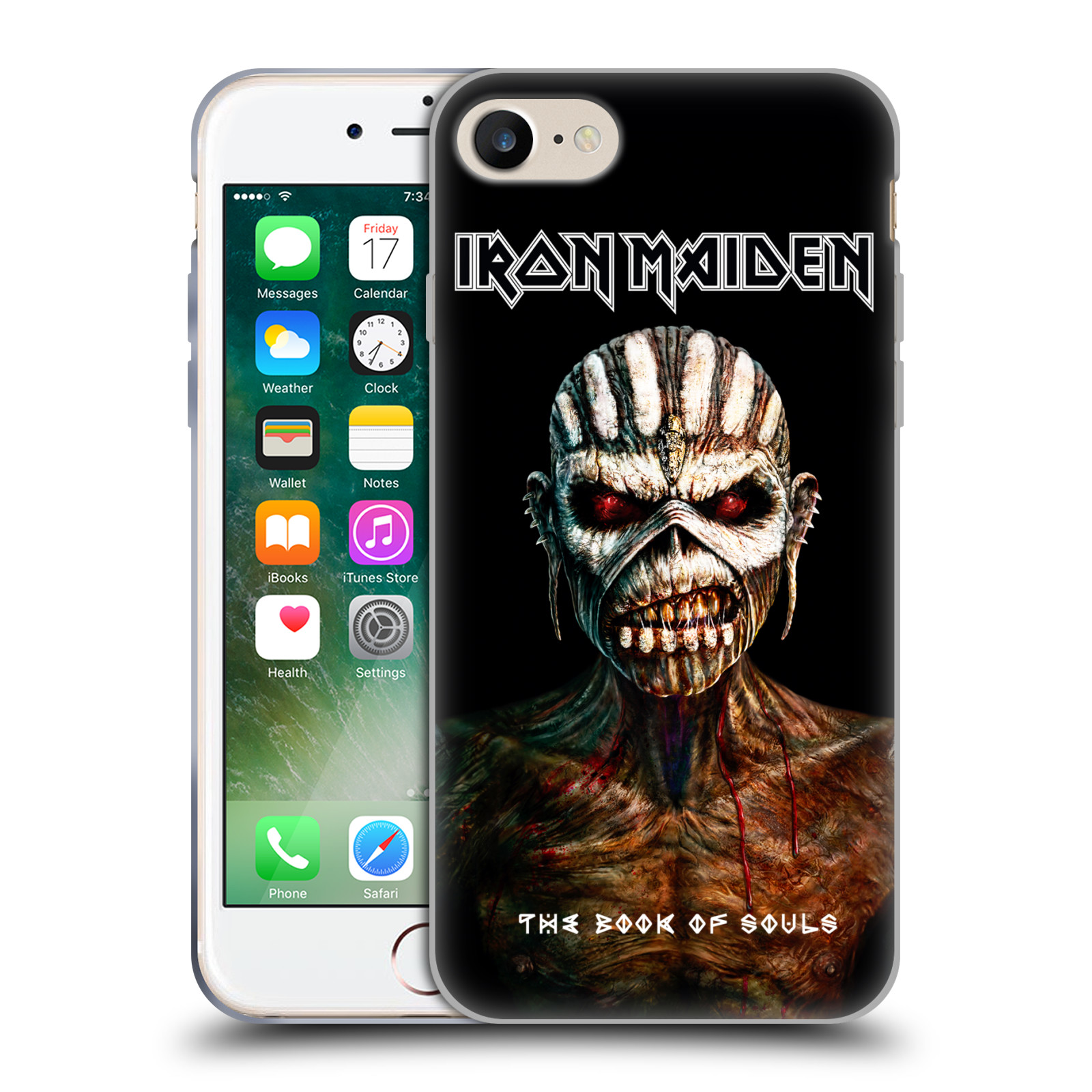 Silikonové pouzdro na mobil Apple iPhone 8 - Head Case - Iron Maiden - The Book Of Souls