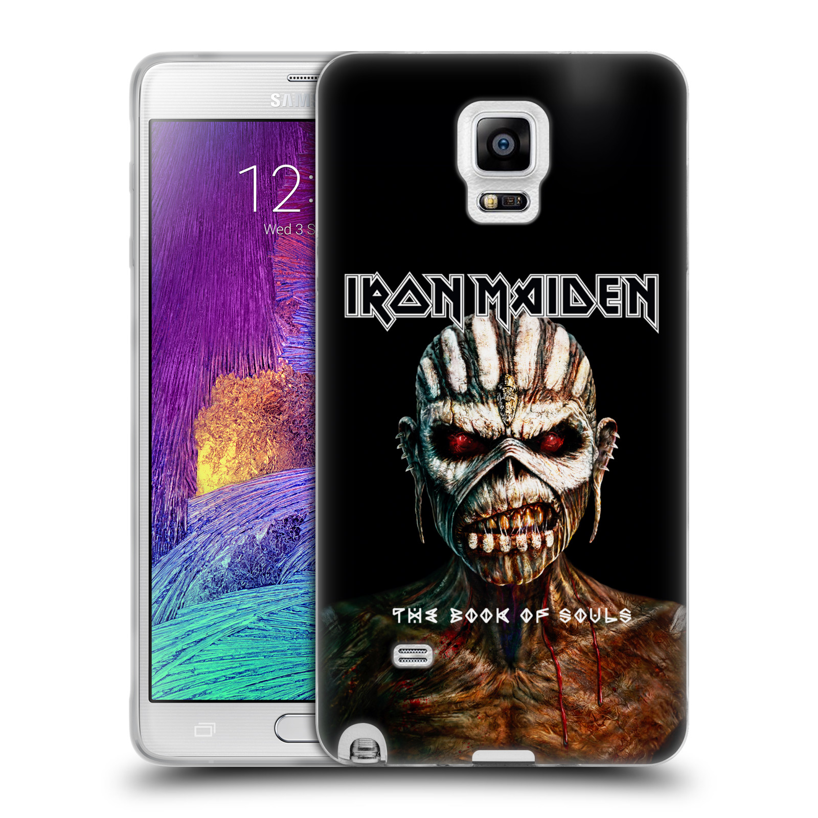 Silikonové pouzdro na mobil Samsung Galaxy Note 4 HEAD CASE - Iron Maiden - The Book Of Souls