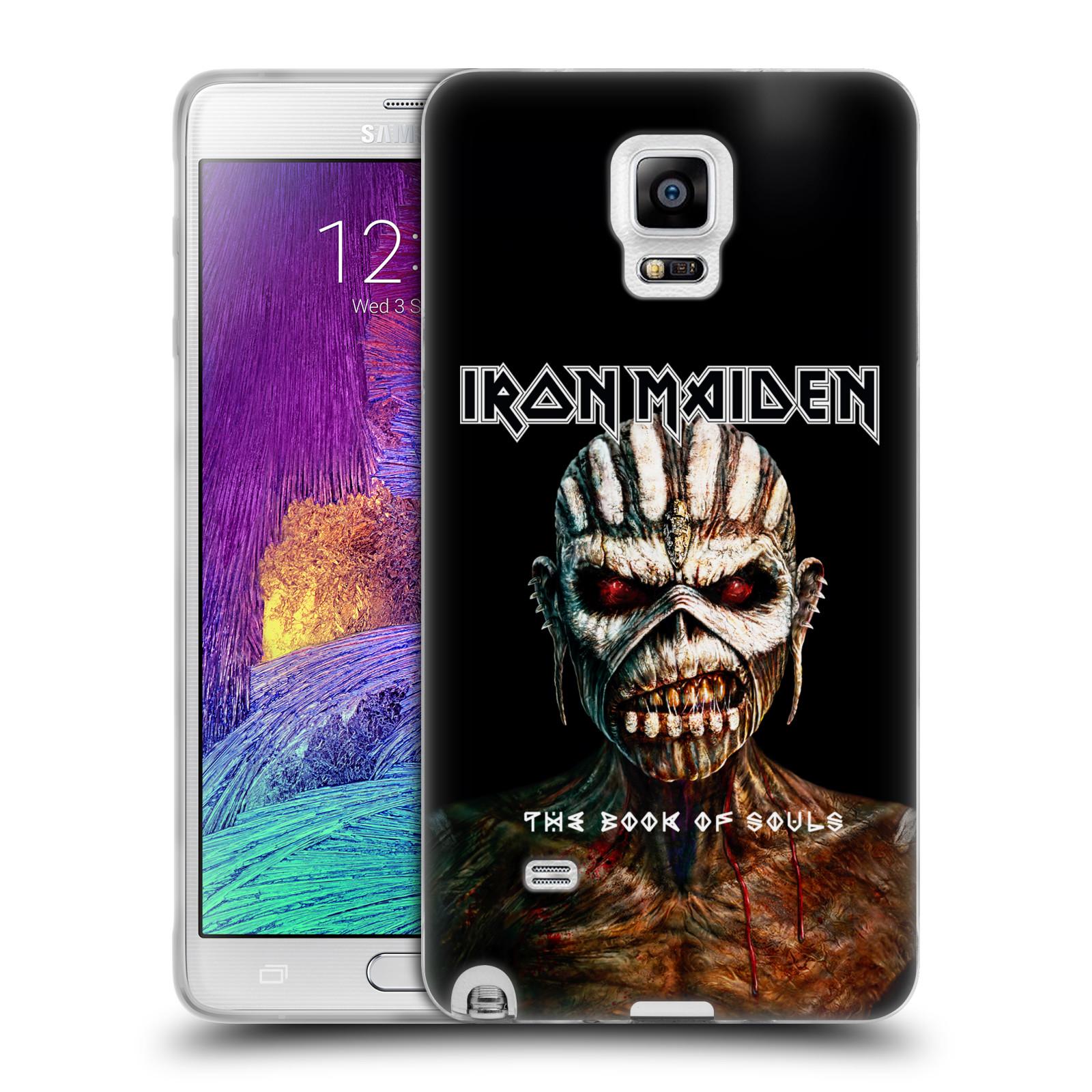 Silikonové pouzdro na mobil Samsung Galaxy Note 4 HEAD CASE - Iron Maiden - The Book Of Souls