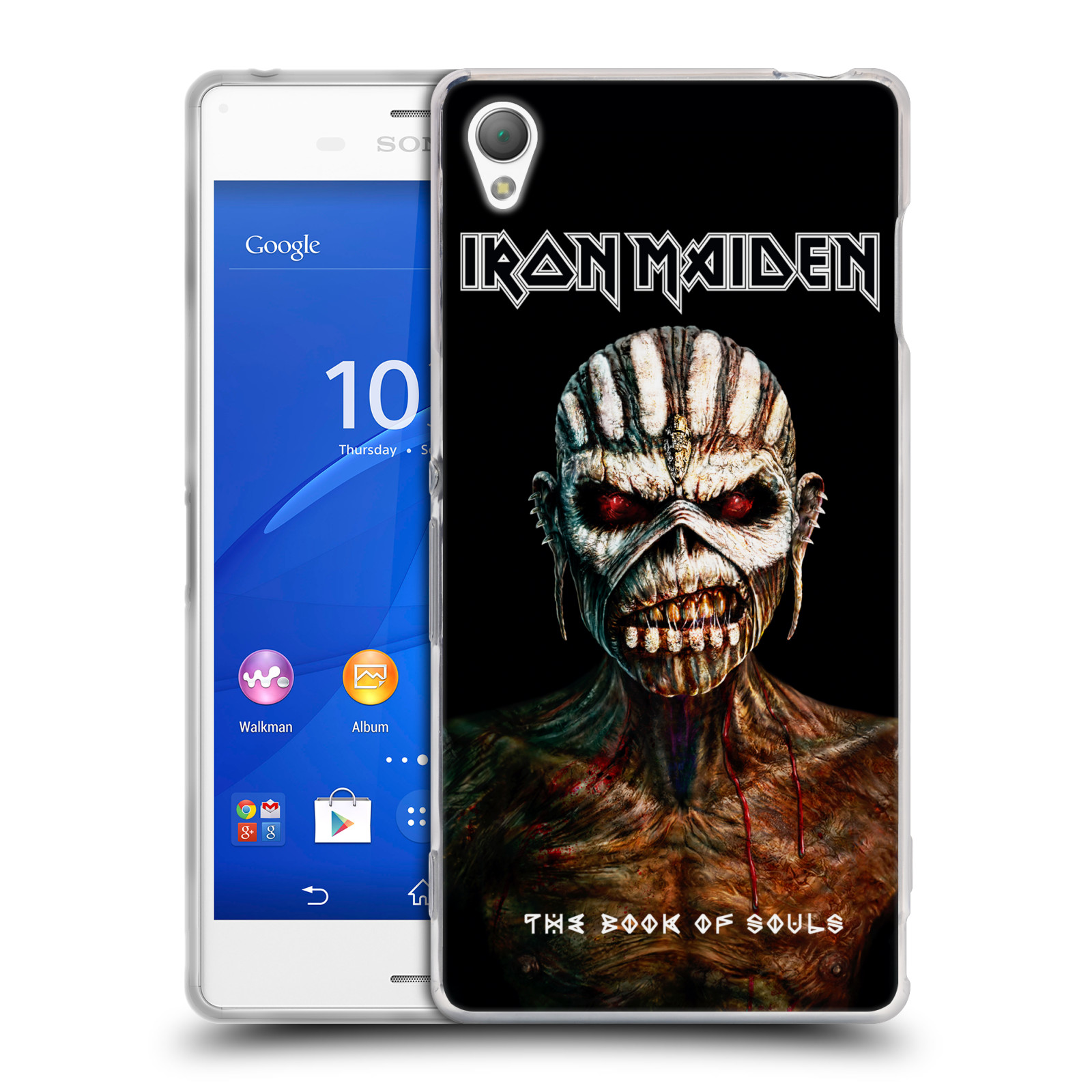 Silikonové pouzdro na mobil Sony Xperia Z3 D6603 HEAD CASE - Iron Maiden - The Book Of Souls