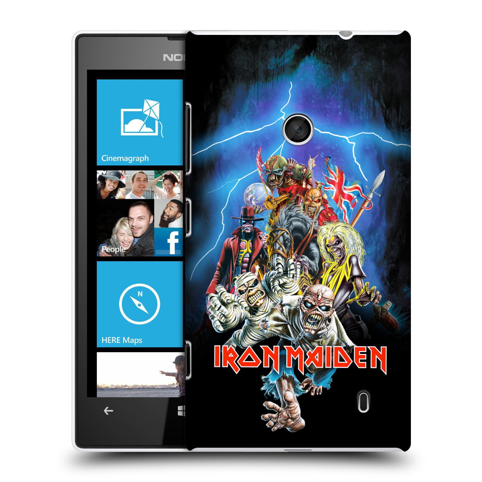 Plastové pouzdro na mobil Nokia Lumia 520 HEAD CASE - Iron Maiden - Best Of Beast