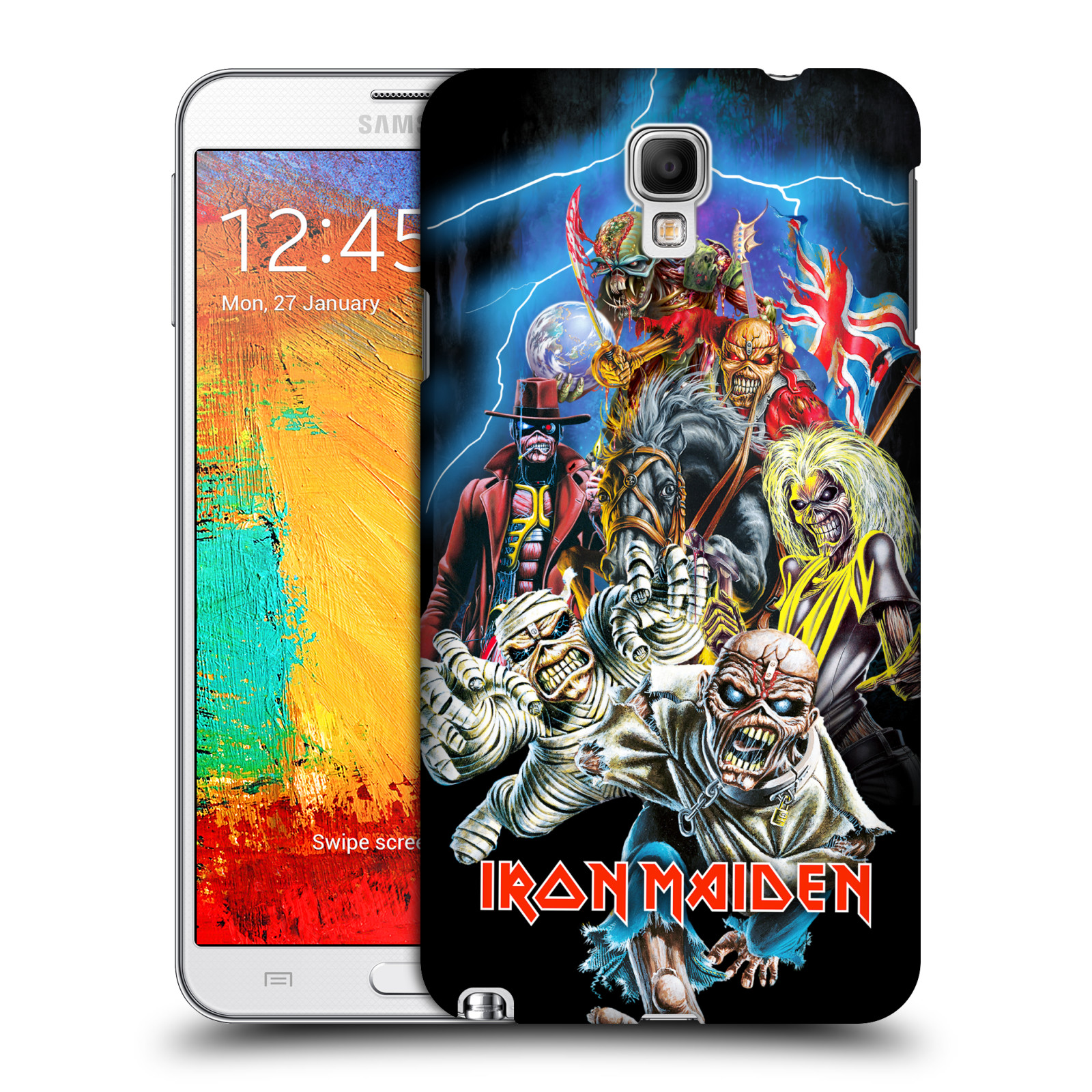 Plastové pouzdro na mobil Samsung Galaxy Note 3 Neo HEAD CASE - Iron Maiden - Best Of Beast