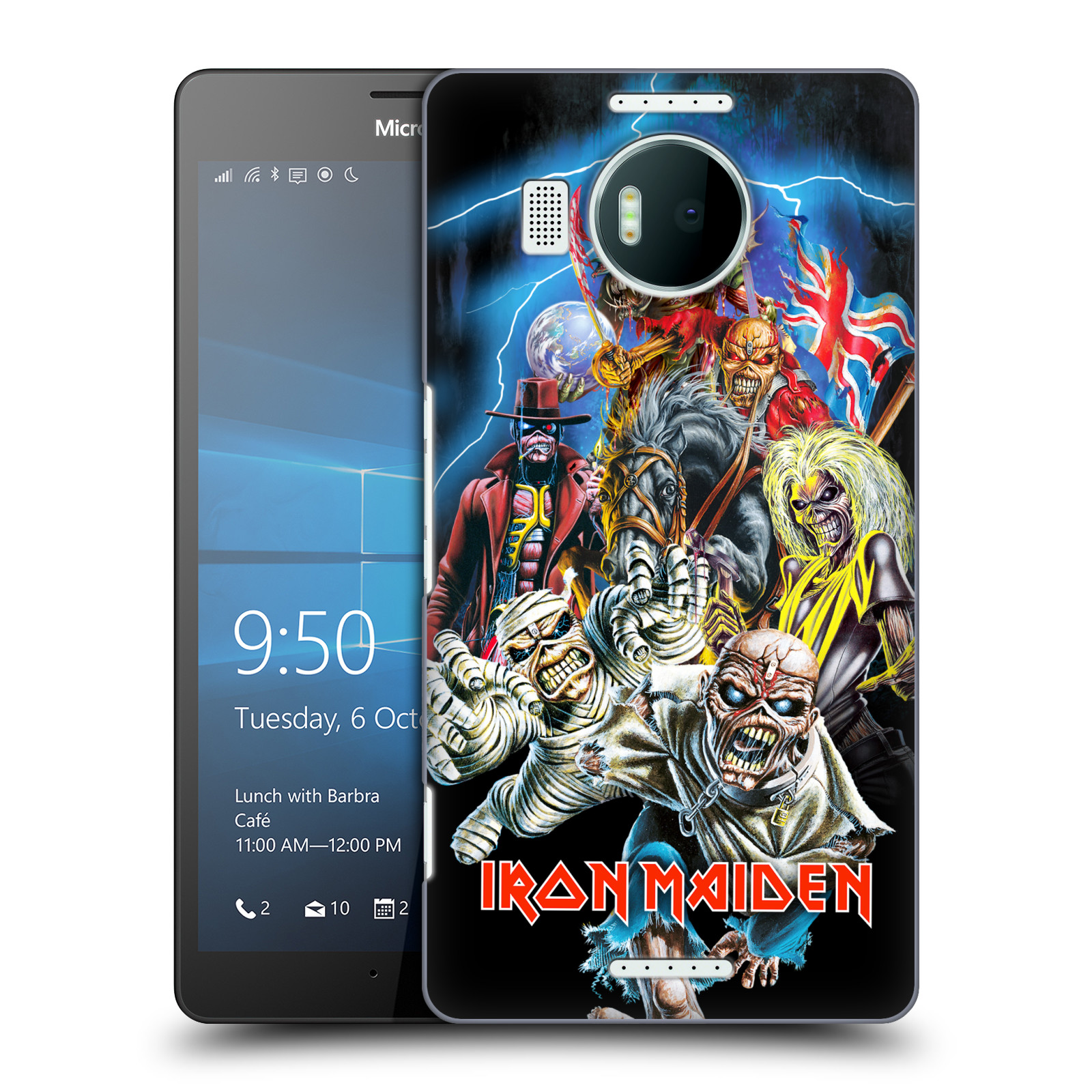 Plastové pouzdro na mobil Microsoft Lumia 950 XL HEAD CASE - Iron Maiden - Best Of Beast