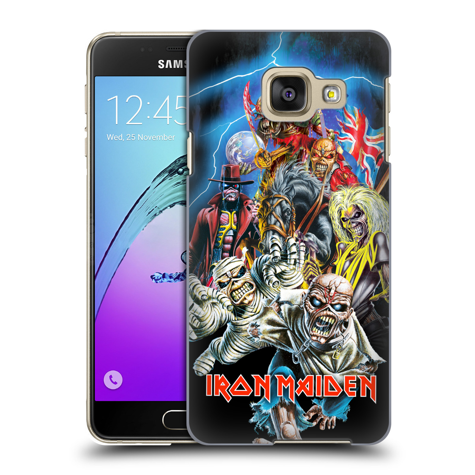 Plastové pouzdro na mobil Samsung Galaxy A3 (2016) HEAD CASE - Iron Maiden - Best Of Beast
