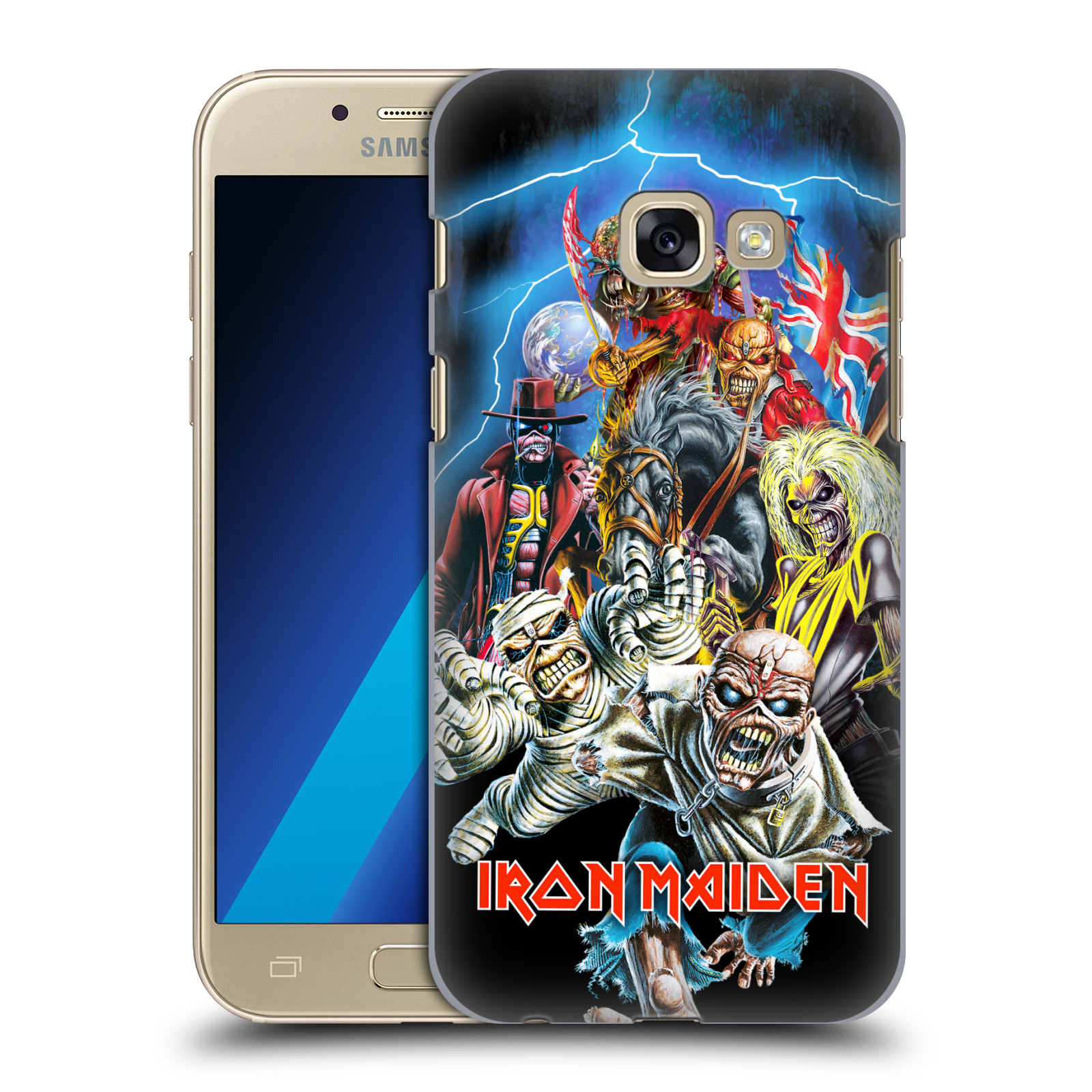 Plastové pouzdro na mobil Samsung Galaxy A3 (2017) HEAD CASE - Iron Maiden - Best Of Beast