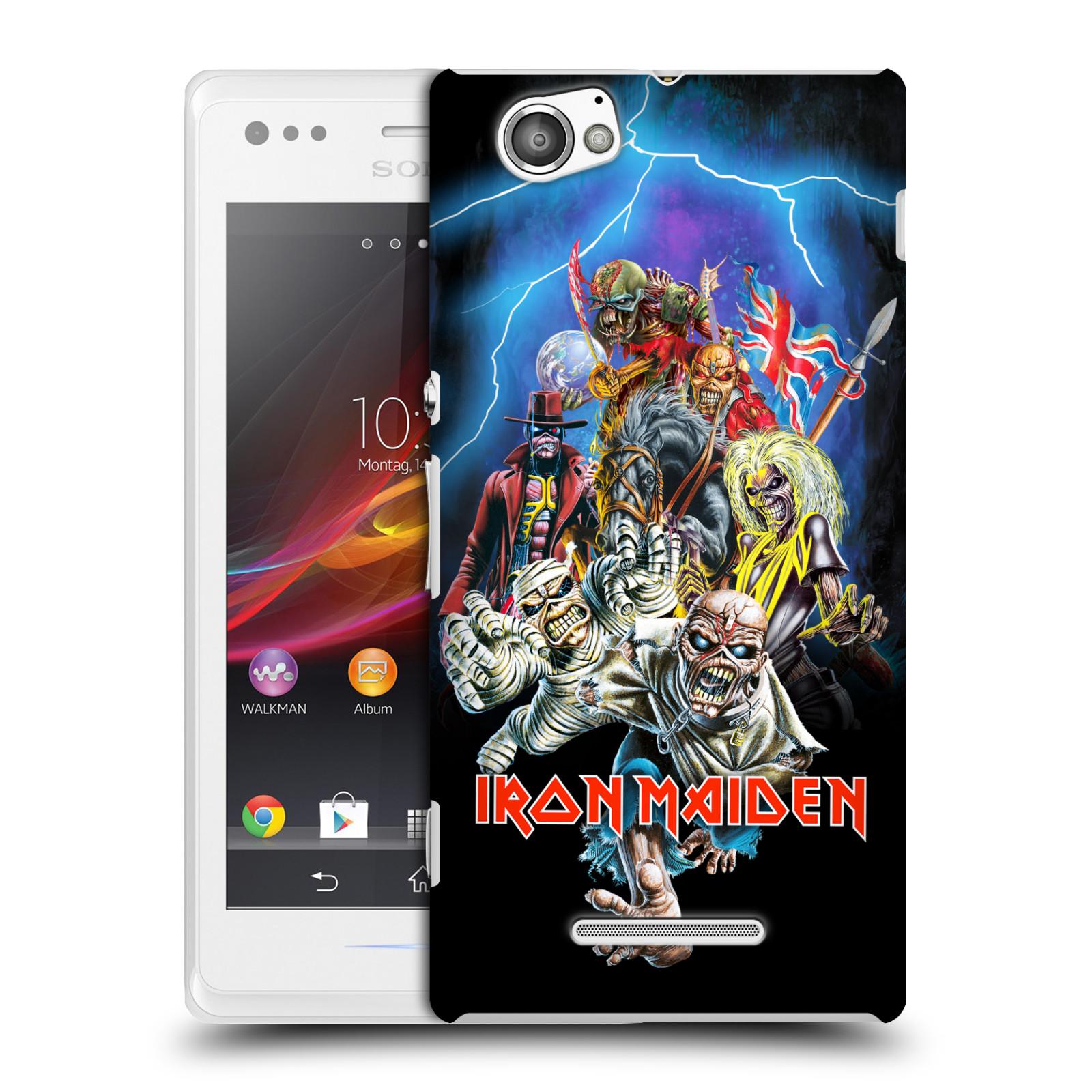 Plastové pouzdro na mobil Sony Xperia M C1905 HEAD CASE - Iron Maiden - Best Of Beast