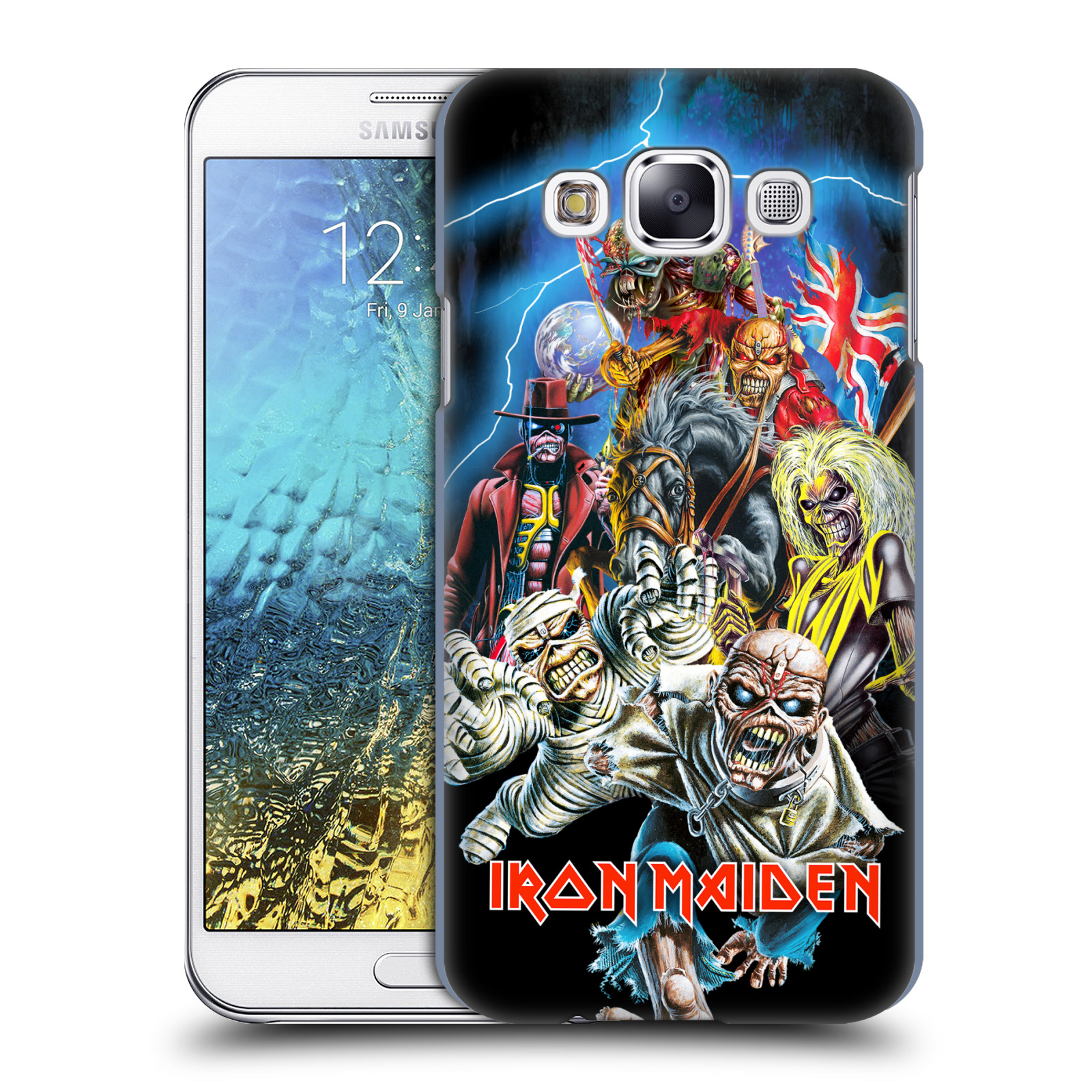 Plastové pouzdro na mobil Samsung Galaxy E5 HEAD CASE - Iron Maiden - Best Of Beast