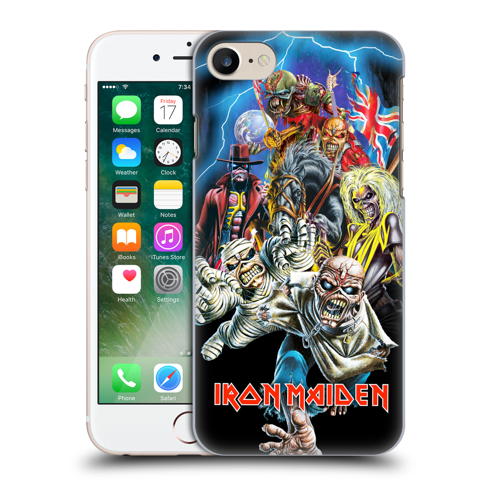 Plastové pouzdro na mobil Apple iPhone 7 HEAD CASE - Iron Maiden - Best Of Beast