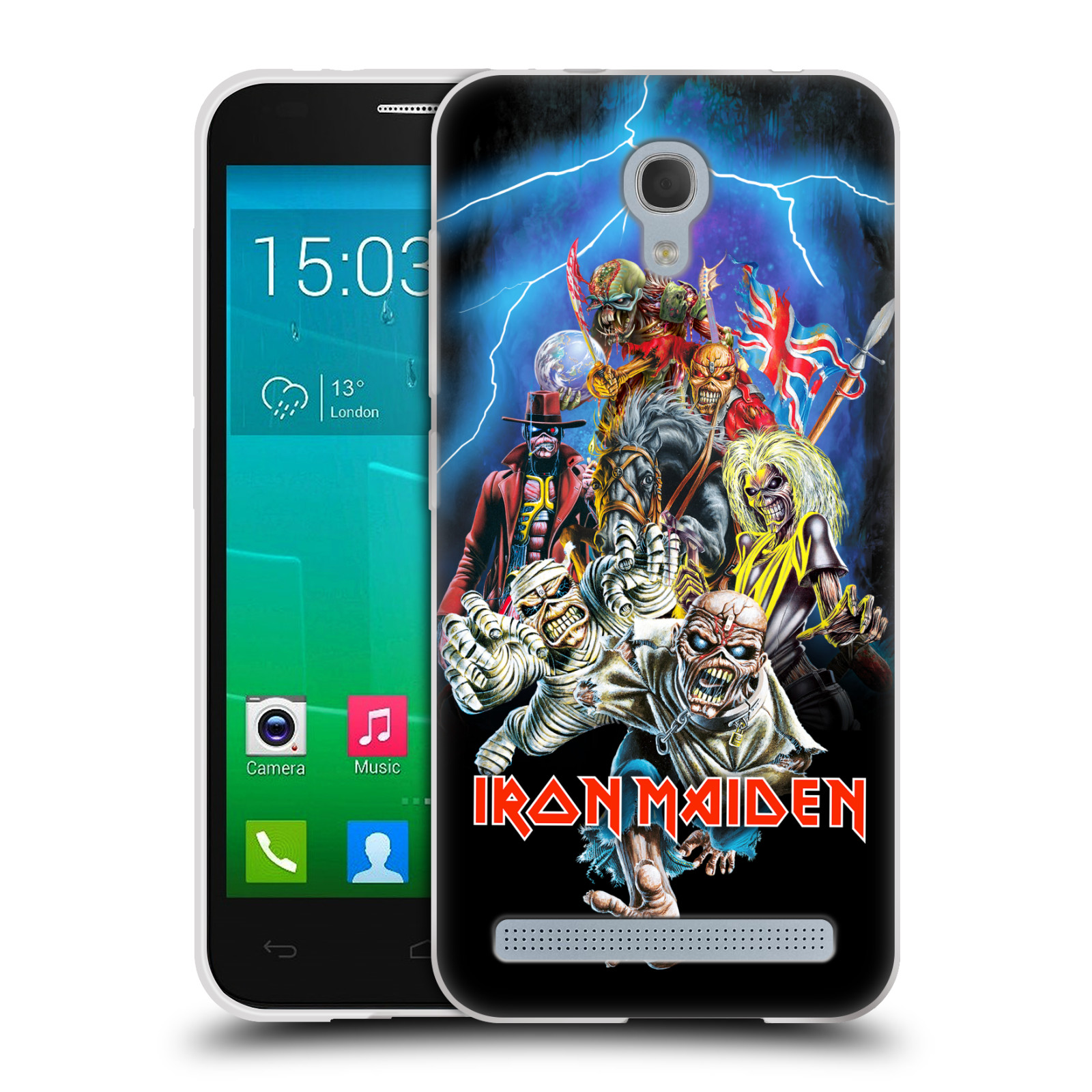 Silikonové pouzdro na mobil Alcatel One Touch Idol 2 Mini S 6036Y HEAD CASE - Iron Maiden - Best Of Beast (Silikonový kryt či obal na mobilní telefon s licencovaným motivem Iron Maiden Alcatel Idol 2 Mini S OT-6036Y)