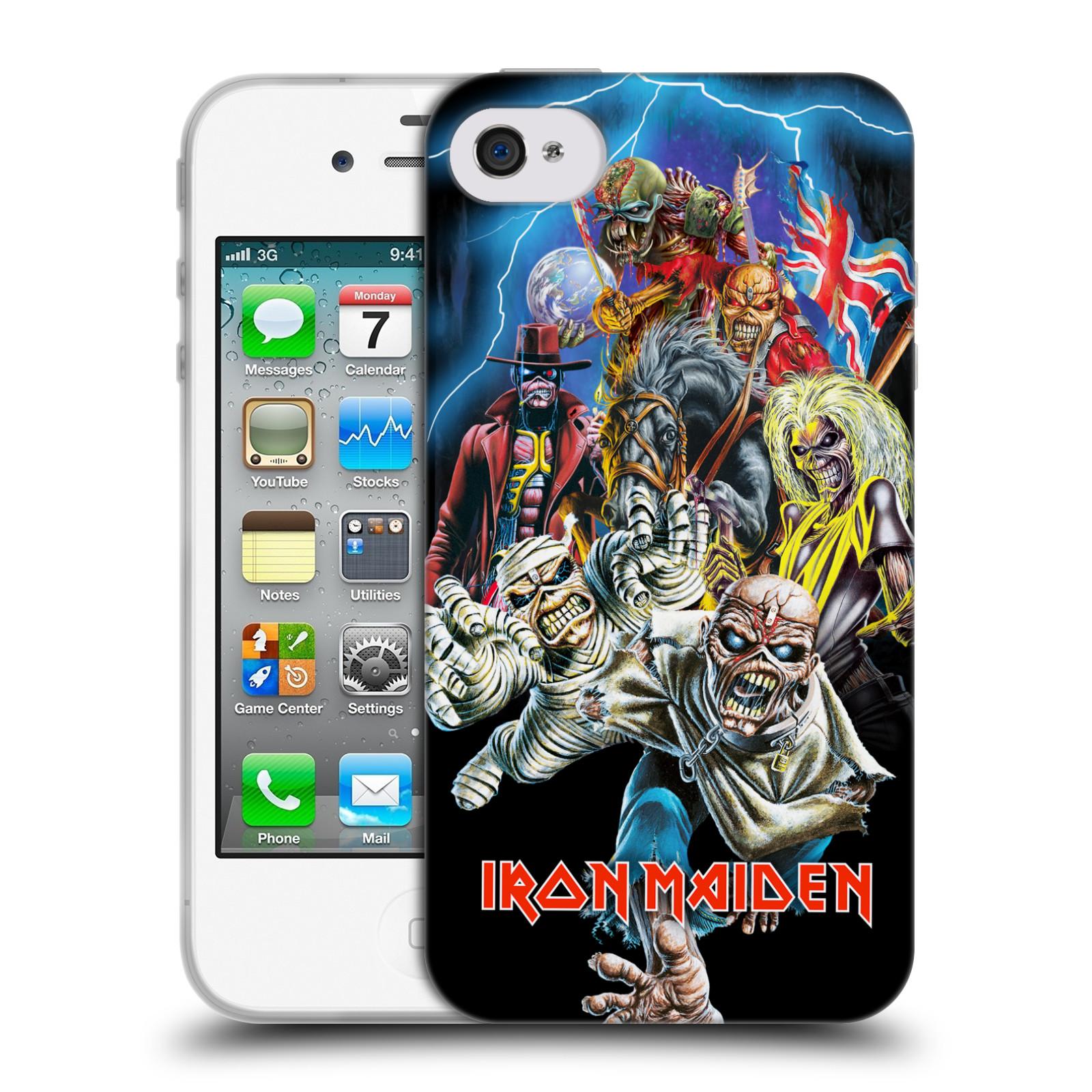 Silikonové pouzdro na mobil Apple iPhone 4 a 4S HEAD CASE - Iron Maiden - Best Of Beast (Silikonový kryt či obal na mobilní telefon s licencovaným motivem Iron Maiden Apple iPhone 4 a 4S)