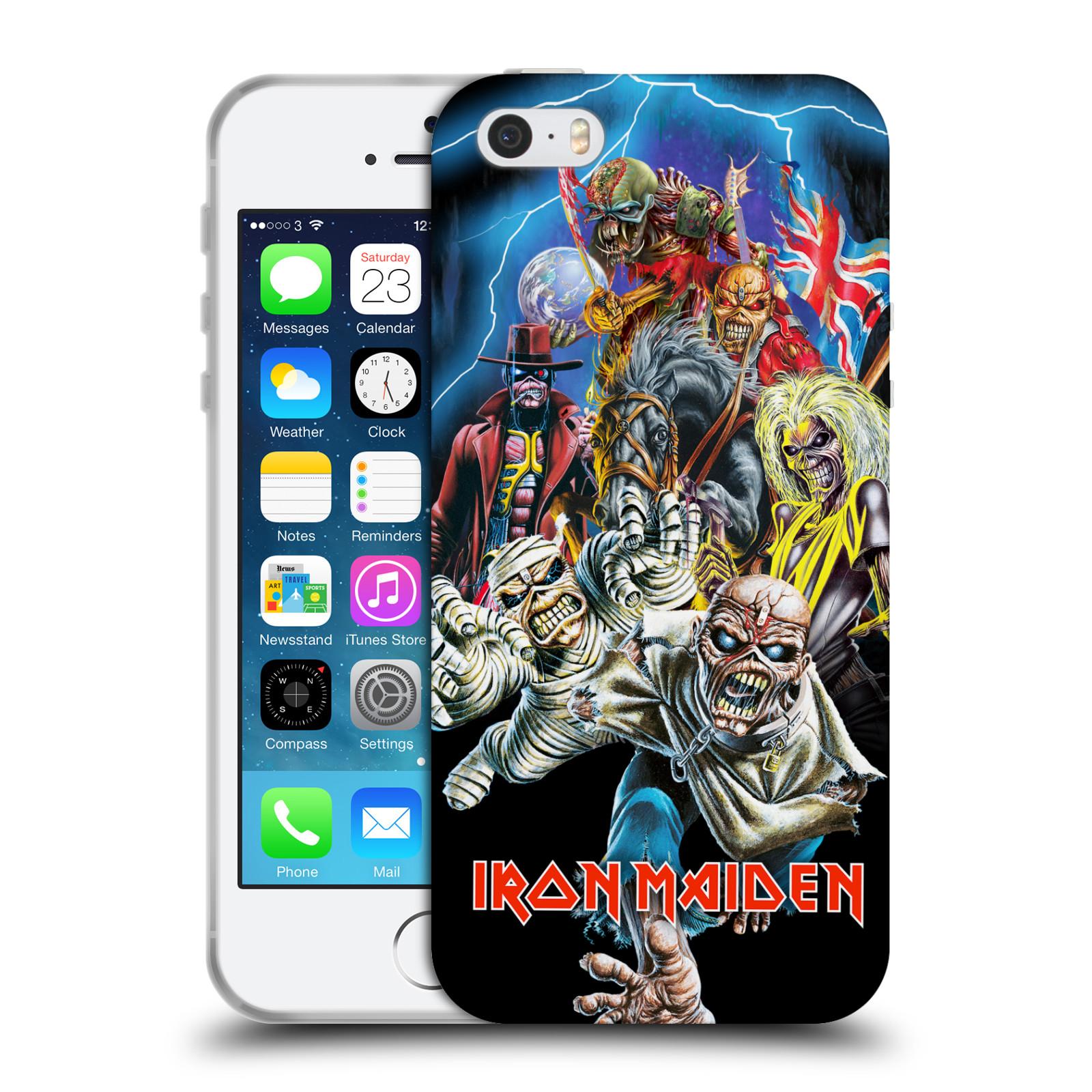 Silikonové pouzdro na mobil Apple iPhone SE, 5 a 5S HEAD CASE - Iron Maiden - Best Of Beast (Silikonový kryt či obal na mobilní telefon s licencovaným motivem Iron Maiden Apple iPhone SE, 5 a 5S)