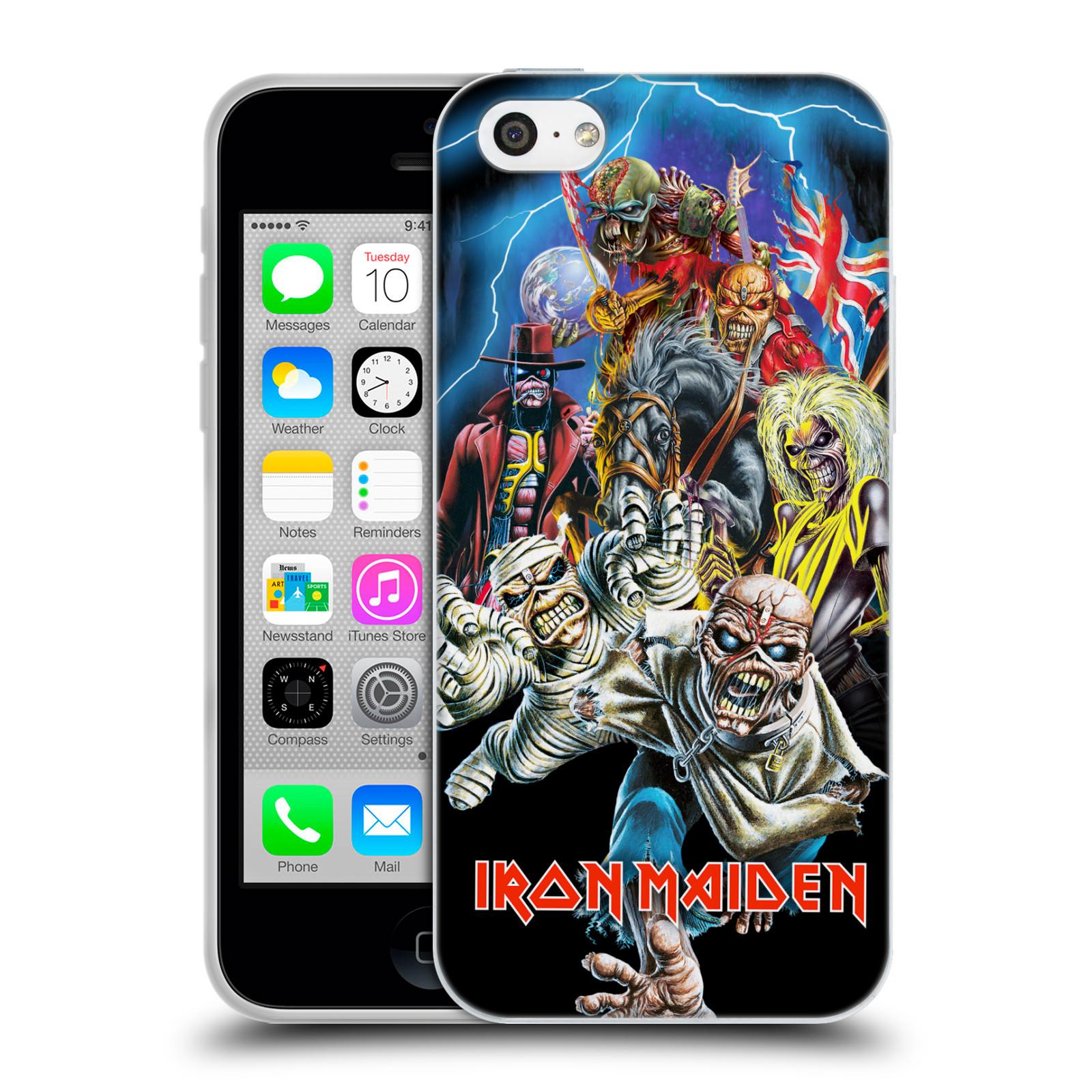 Silikonové pouzdro na mobil Apple iPhone 5C HEAD CASE - Iron Maiden - Best Of Beast (Silikonový kryt či obal na mobilní telefon s licencovaným motivem Iron Maiden Apple iPhone 5C)