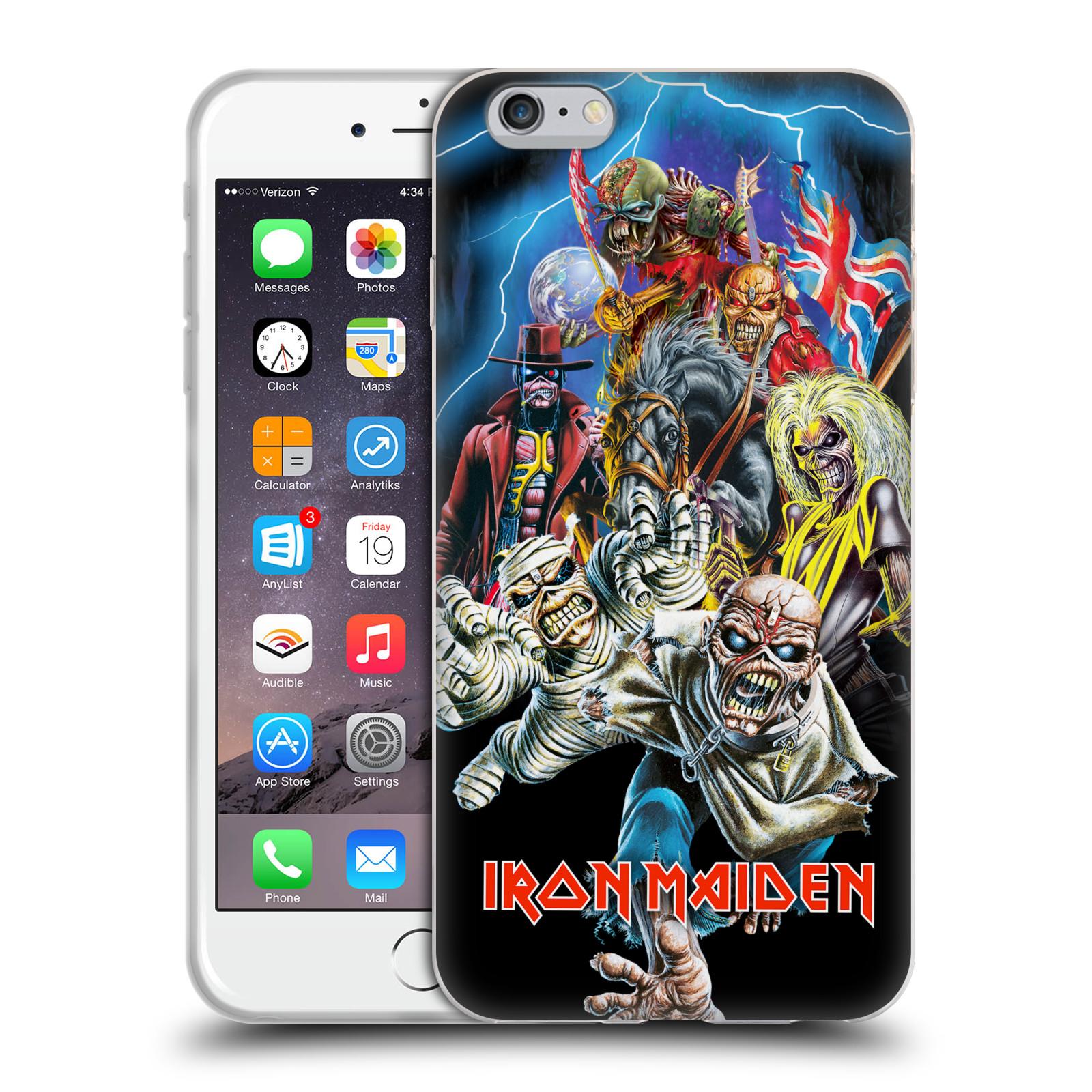 Silikonové pouzdro na mobil Apple iPhone 6 Plus HEAD CASE - Iron Maiden - Best Of Beast (Silikonový kryt či obal na mobilní telefon s licencovaným motivem Iron Maiden Apple iPhone 6 Plus)