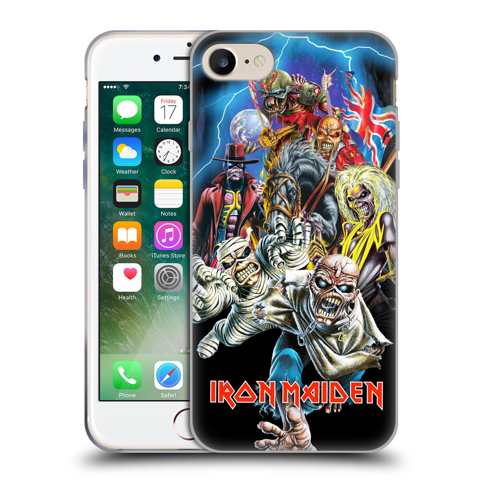 Silikonové pouzdro na mobil Apple iPhone 7 HEAD CASE - Iron Maiden - Best Of Beast (Silikonový kryt či obal na mobilní telefon s licencovaným motivem Iron Maiden Apple iPhone 7)