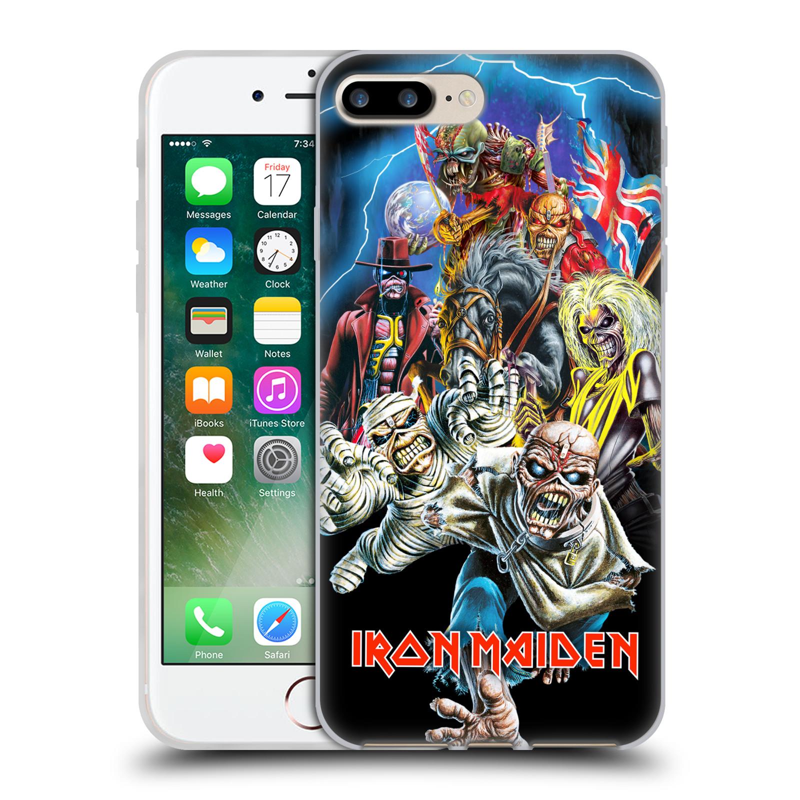 Silikonové pouzdro na mobil Apple iPhone 7 Plus HEAD CASE - Iron Maiden - Best Of Beast (Silikonový kryt či obal na mobilní telefon s licencovaným motivem Iron Maiden Apple iPhone 7 Plus)