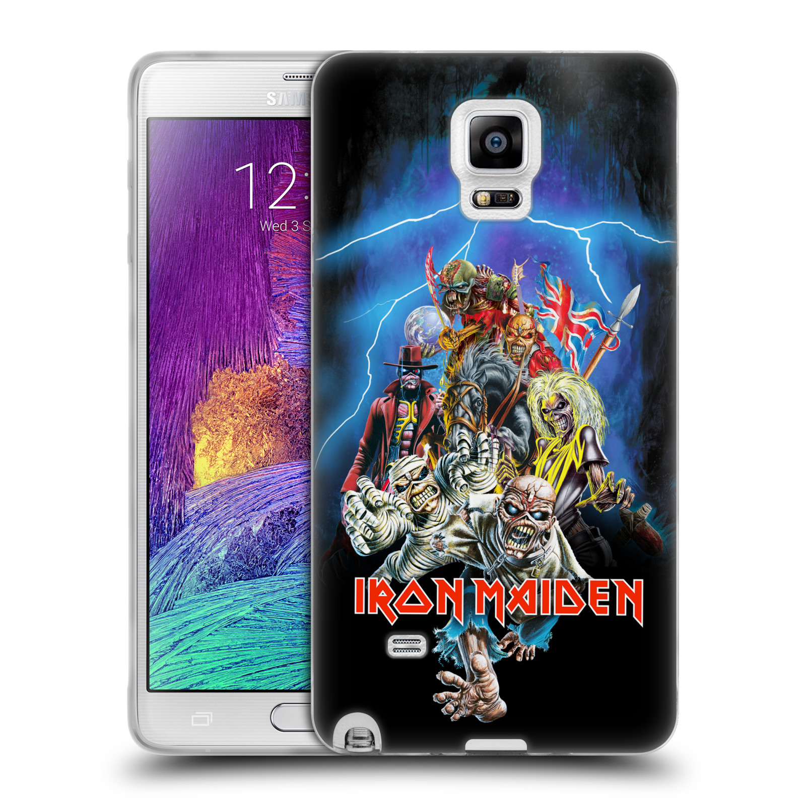 Silikonové pouzdro na mobil Samsung Galaxy Note 4 HEAD CASE - Iron Maiden - Best Of Beast