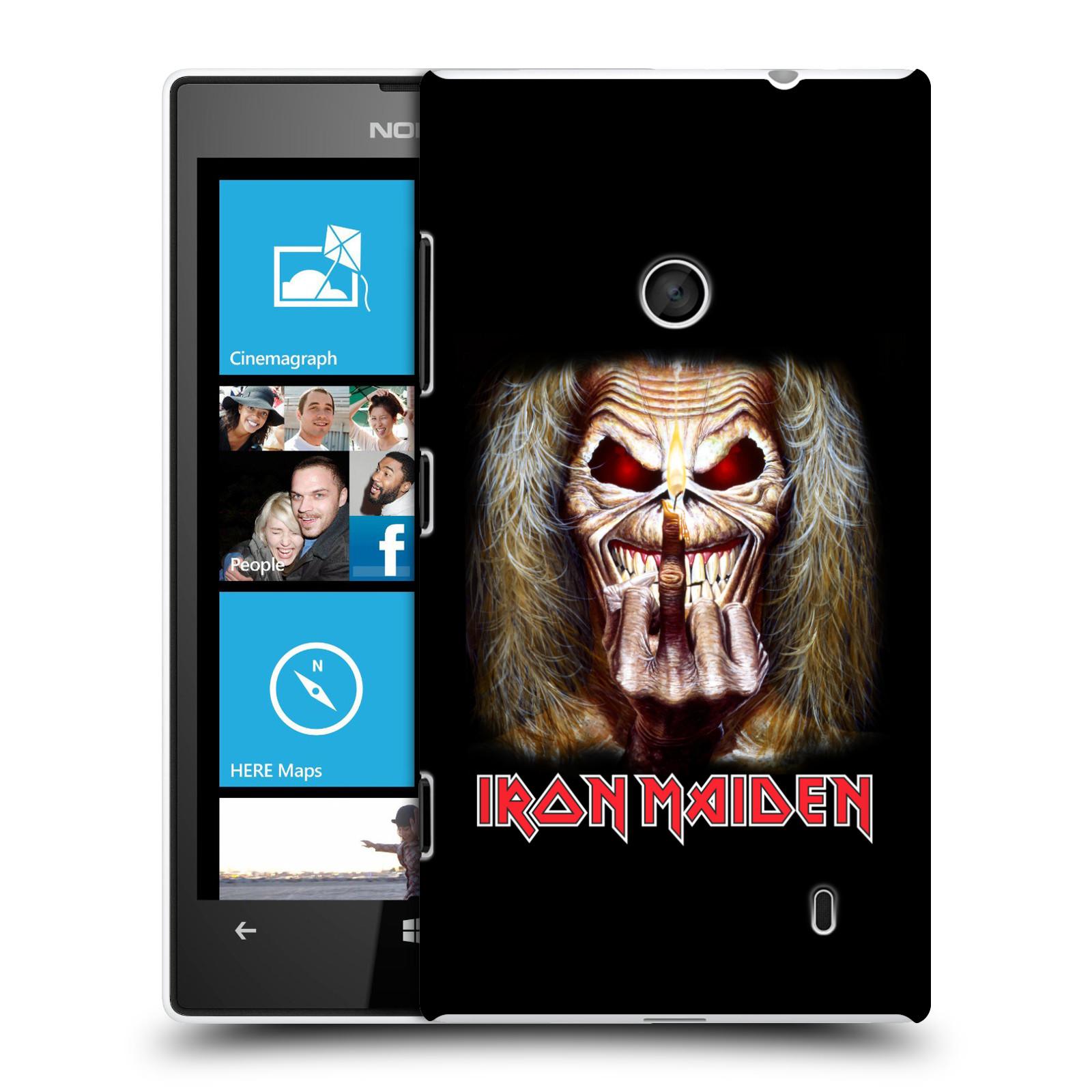 Plastové pouzdro na mobil Nokia Lumia 520 HEAD CASE - Iron Maiden - Candle Finger