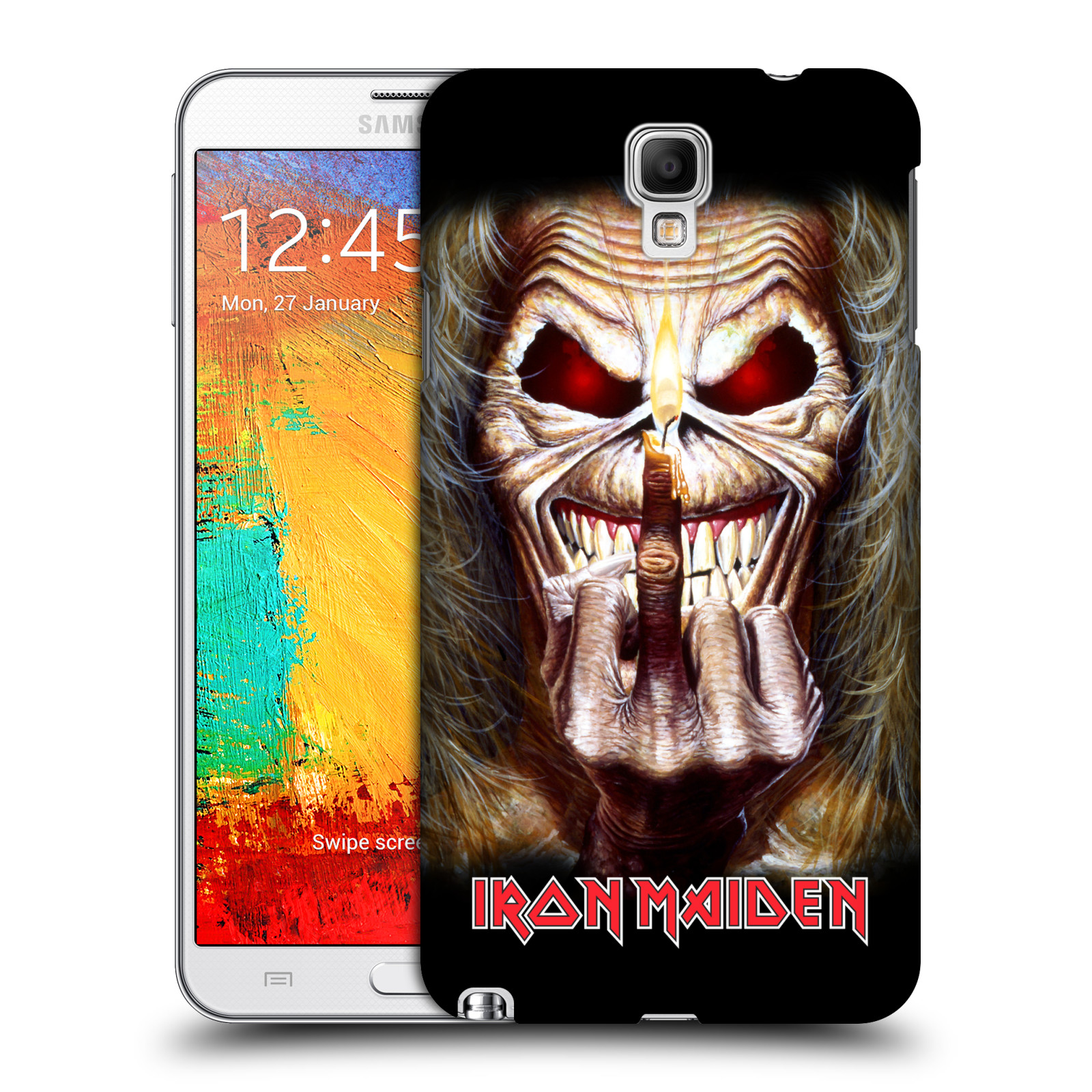 Plastové pouzdro na mobil Samsung Galaxy Note 3 Neo HEAD CASE - Iron Maiden - Candle Finger