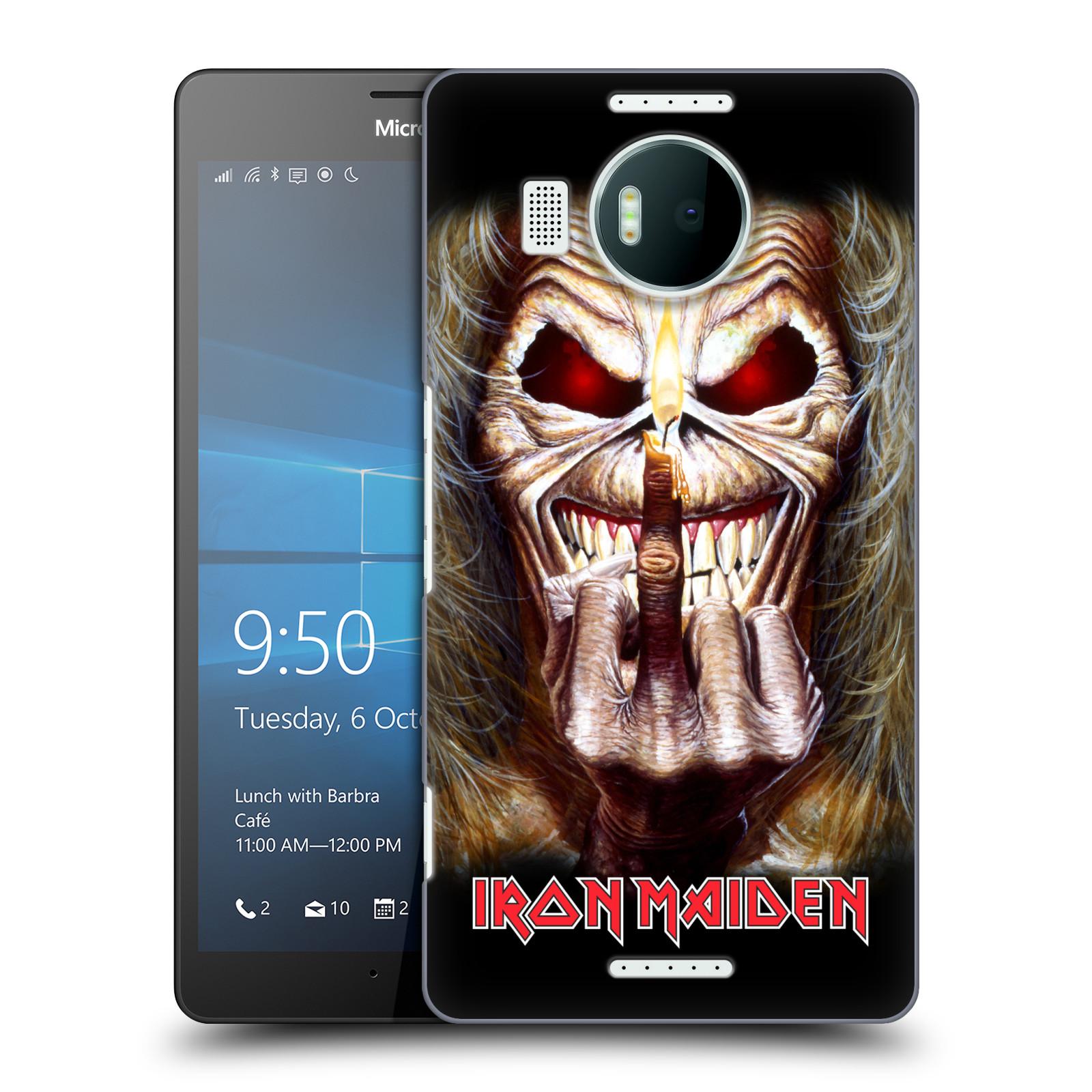 Plastové pouzdro na mobil Microsoft Lumia 950 XL HEAD CASE - Iron Maiden - Candle Finger