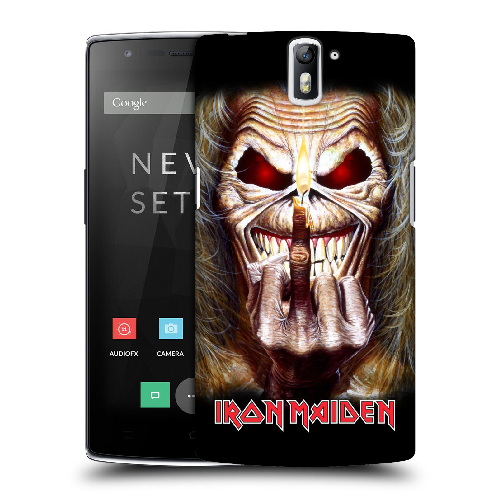 Plastové pouzdro na mobil OnePlus One HEAD CASE - Iron Maiden - Candle Finger