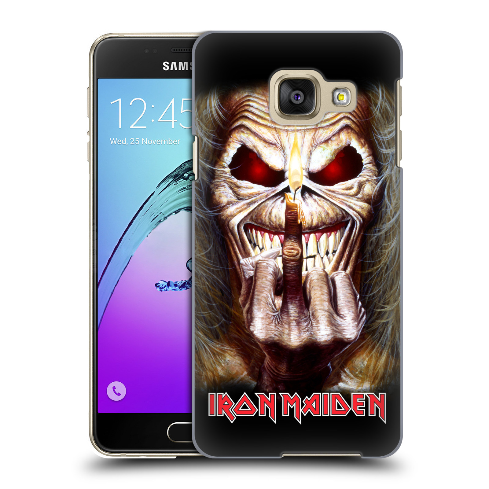 Plastové pouzdro na mobil Samsung Galaxy A3 (2016) HEAD CASE - Iron Maiden - Candle Finger