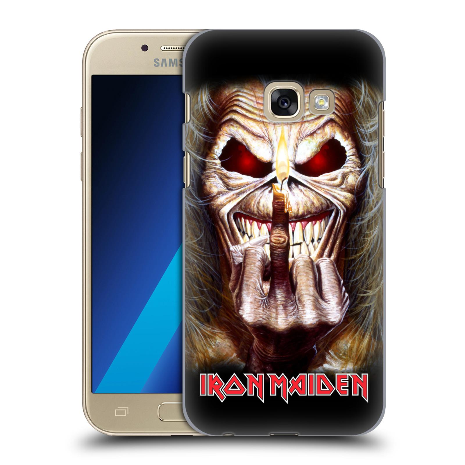 Plastové pouzdro na mobil Samsung Galaxy A3 (2017) HEAD CASE - Iron Maiden - Candle Finger