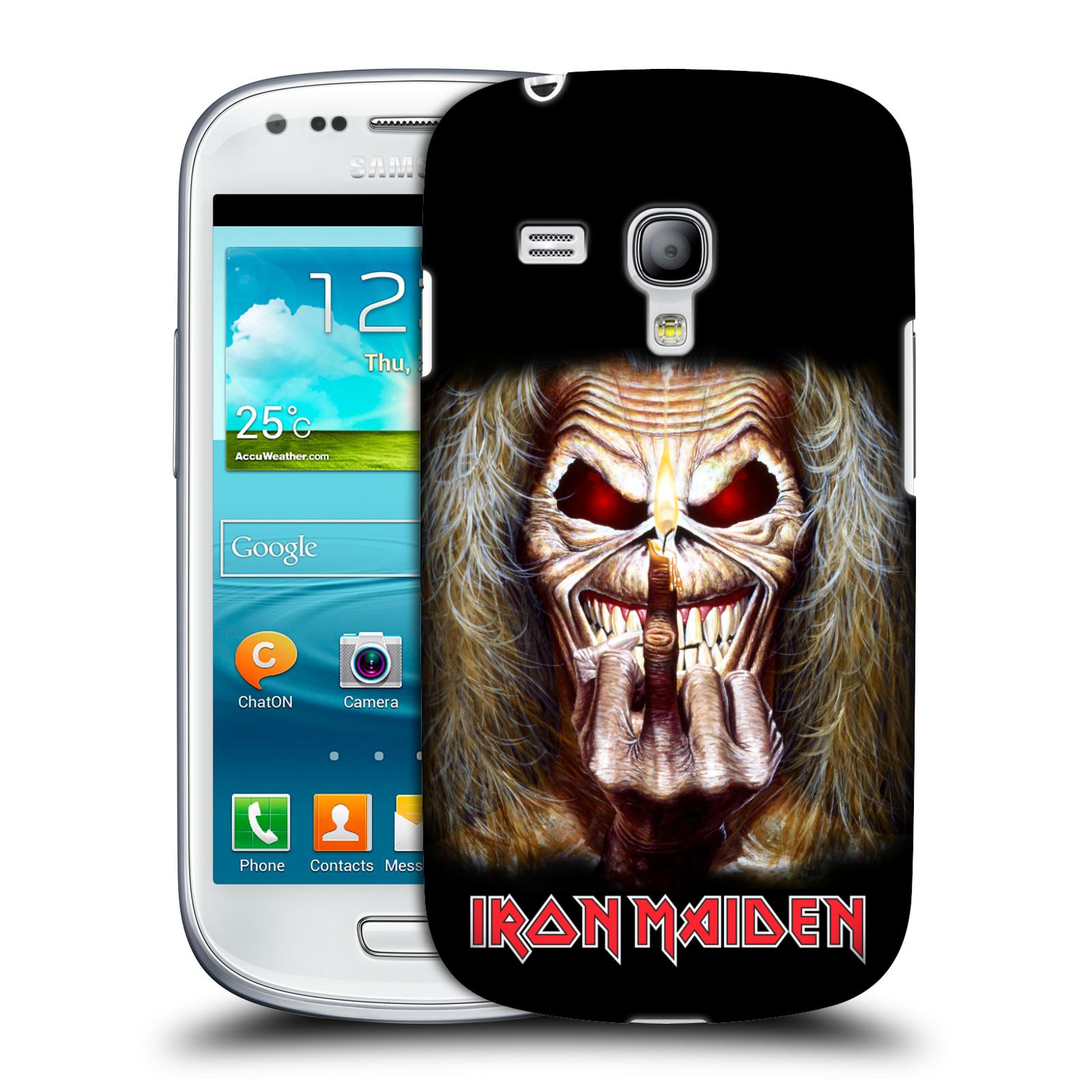 Silikonové pouzdro na mobil Samsung Galaxy S III Mini VE HEAD CASE - Iron Maiden - Candle Finger (Plastový kryt či obal na mobilní telefon s licencovaným motivem Iron Maiden Samsung Galaxy S3 Mini VE GT-i8200)