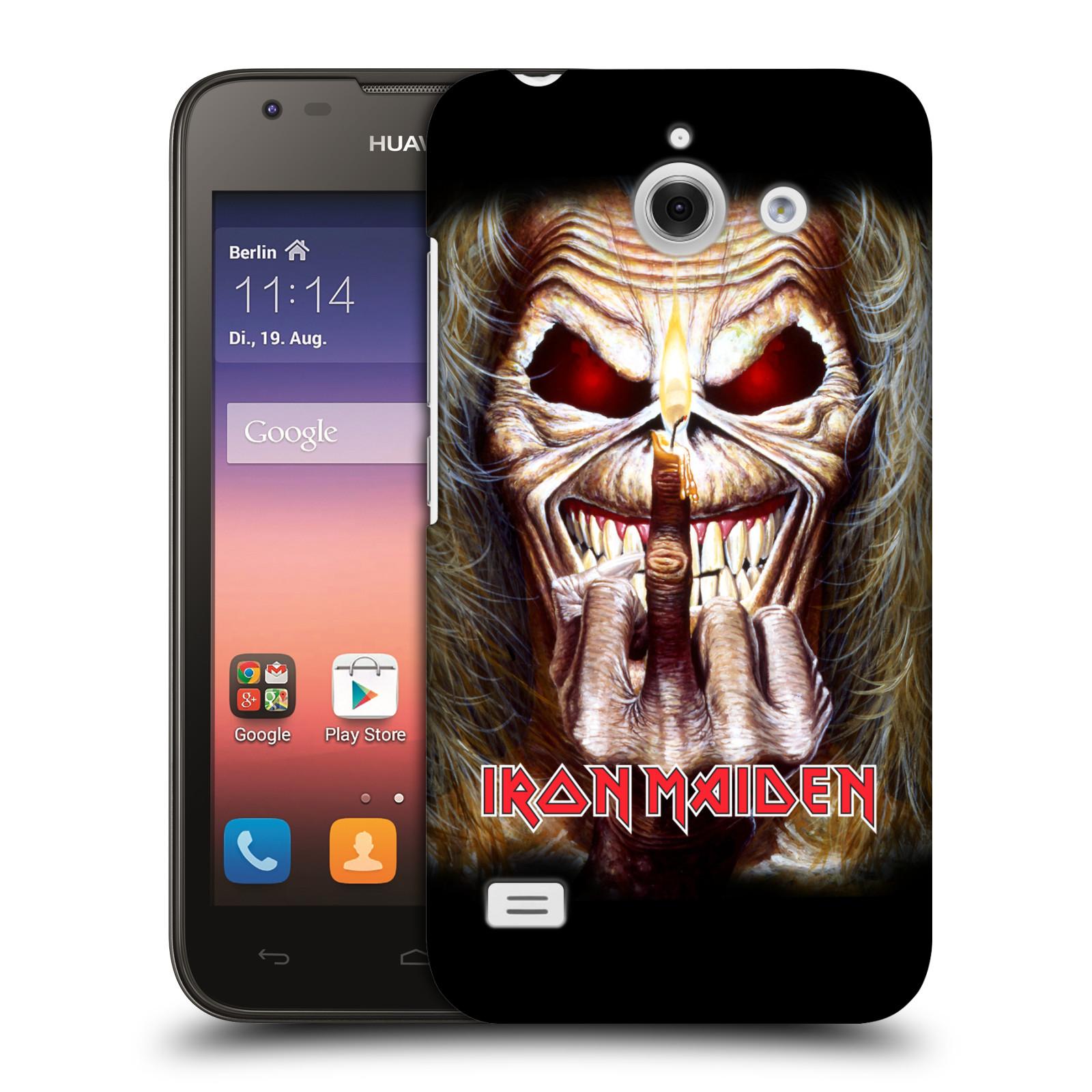 Plastové pouzdro na mobil Huawei Ascend Y550 HEAD CASE - Iron Maiden - Candle Finger (Plastový kryt či obal na mobilní telefon s licencovaným motivem Iron Maiden Huawei Ascend Y550)