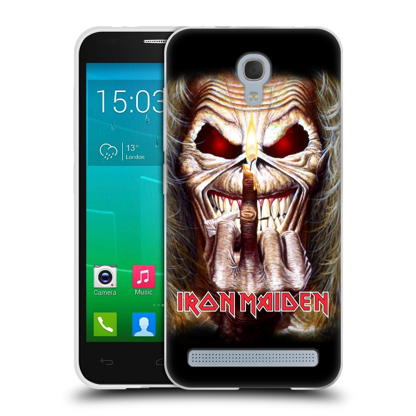 Silikonové pouzdro na mobil Alcatel One Touch Idol 2 Mini S 6036Y HEAD CASE - Iron Maiden - Candle Finger (Silikonový kryt či obal na mobilní telefon s licencovaným motivem Iron Maiden Alcatel Idol 2 Mini S OT-6036Y)