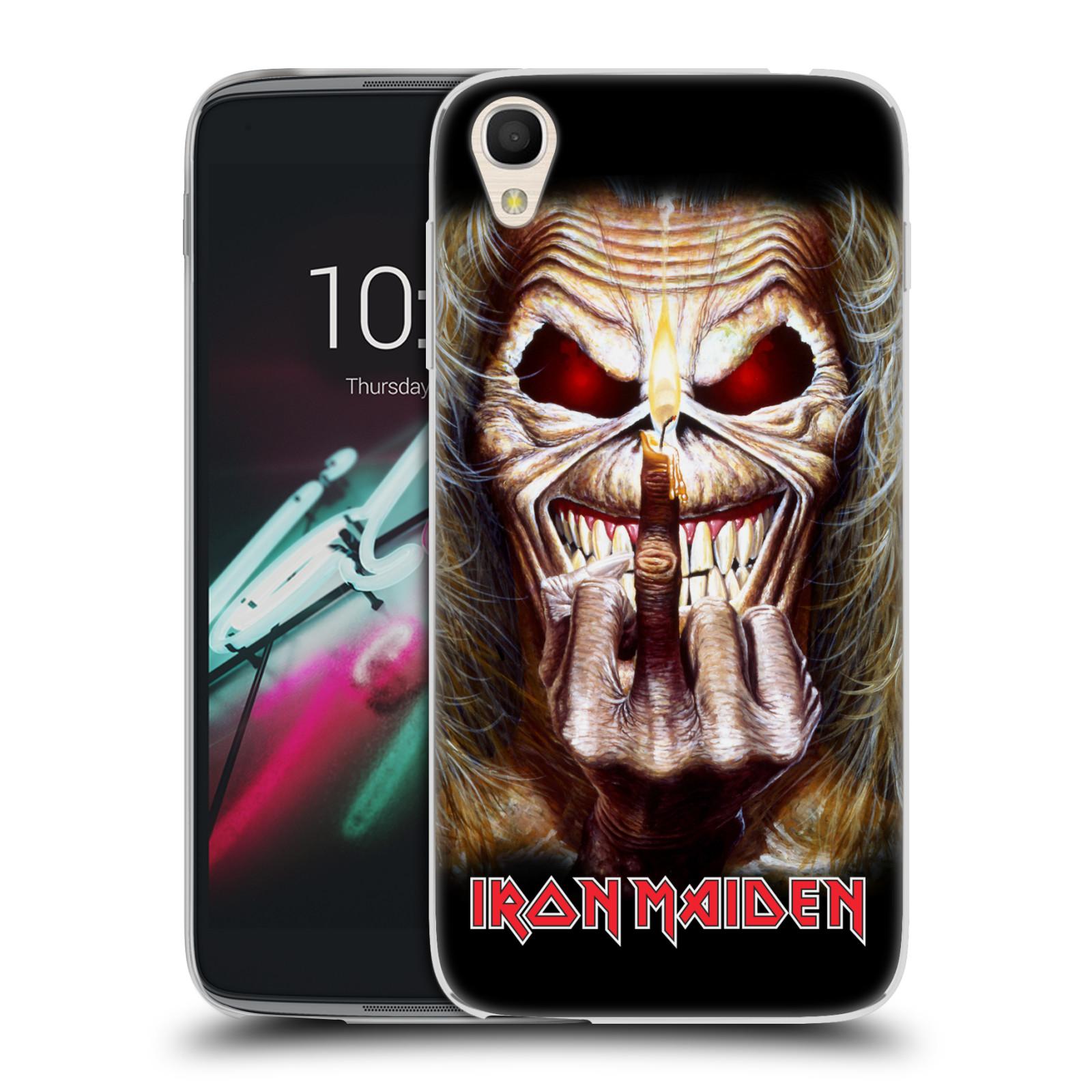 """Silikonové pouzdro na mobil Alcatel One Touch 6039Y Idol 3 HEAD CASE - Iron Maiden - Candle Finger (Silikonový kryt či obal na mobilní telefon s licencovaným motivem Iron Maiden Alcatel One Touch Idol 3 OT-6039Y s 4,7"""" displejem)"""