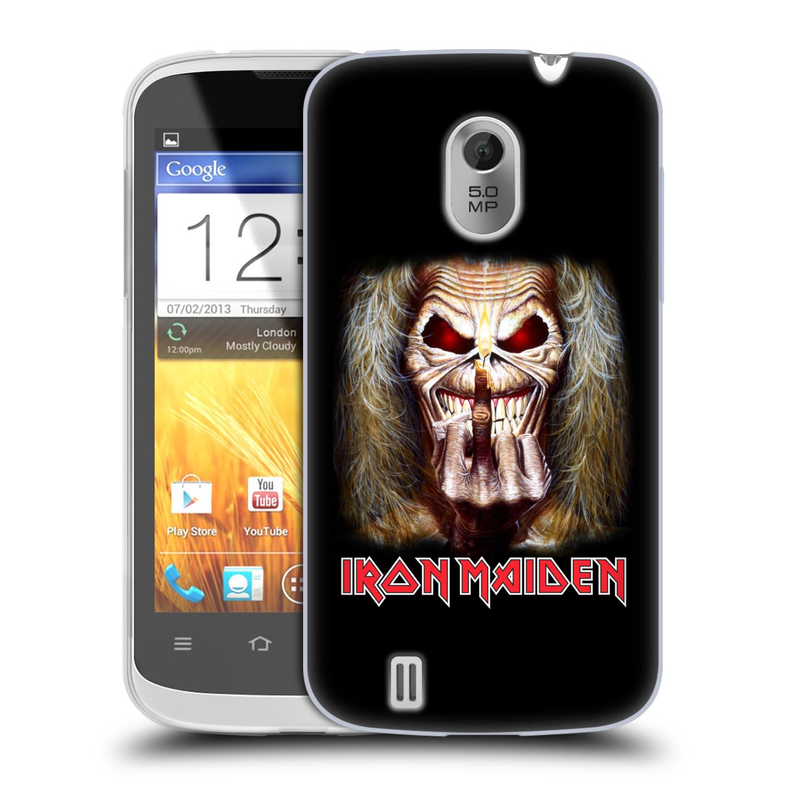 Silikonové pouzdro na mobil ZTE Blade III HEAD CASE - Iron Maiden - Candle Finger (Silikonový kryt či obal na mobilní telefon s licencovaným motivem Iron Maiden ZTE Blade 3)