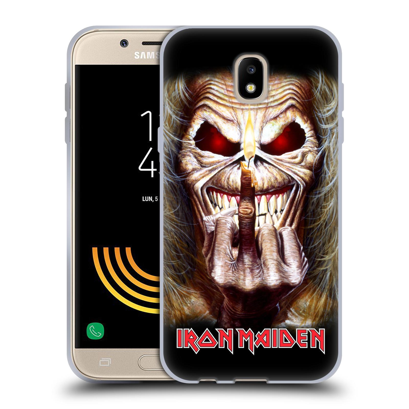 Silikonové pouzdro na mobil Samsung Galaxy J5 (2017) - Head Case - Iron Maiden - Candle Finger