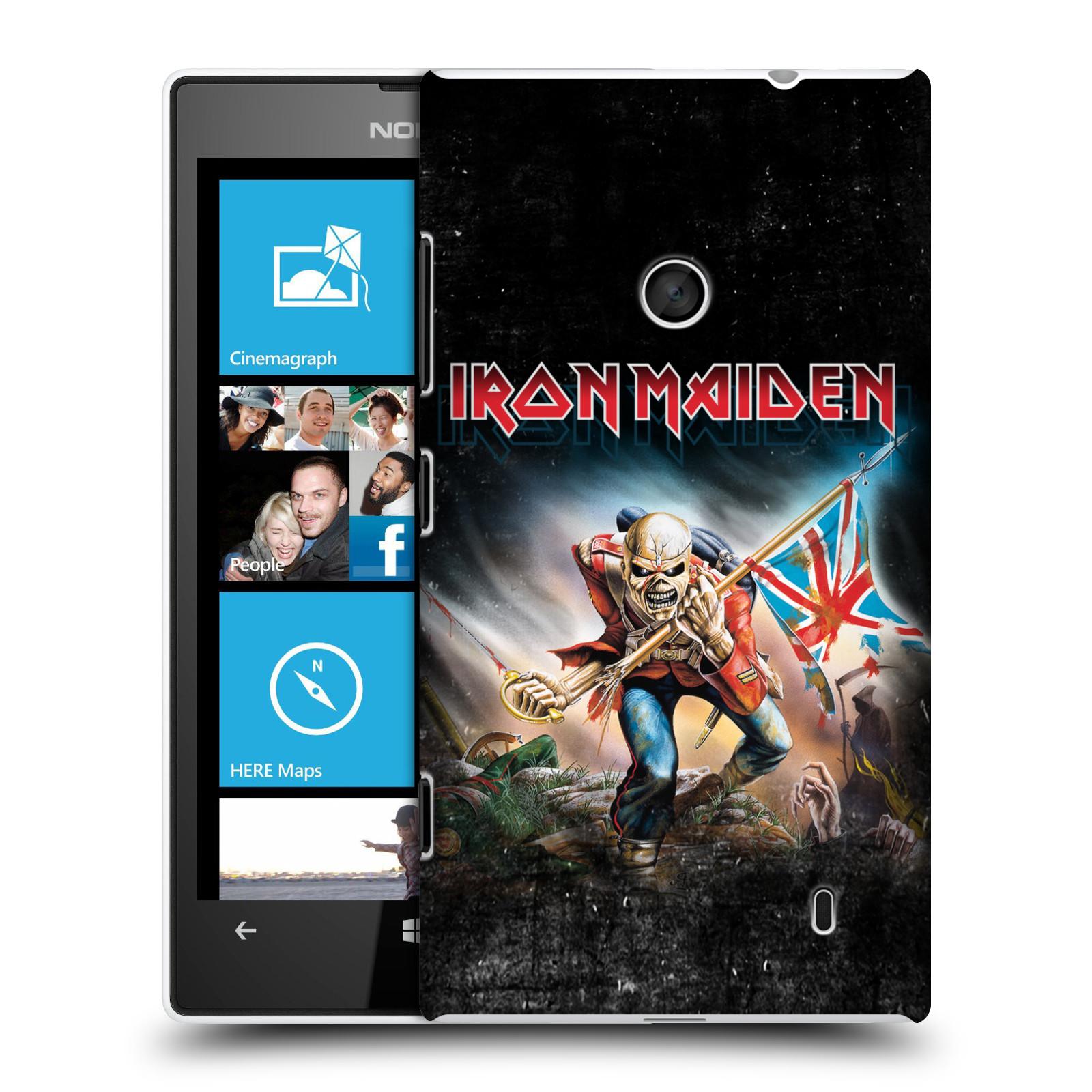 Plastové pouzdro na mobil Nokia Lumia 520 HEAD CASE - Iron Maiden - Trooper 2016