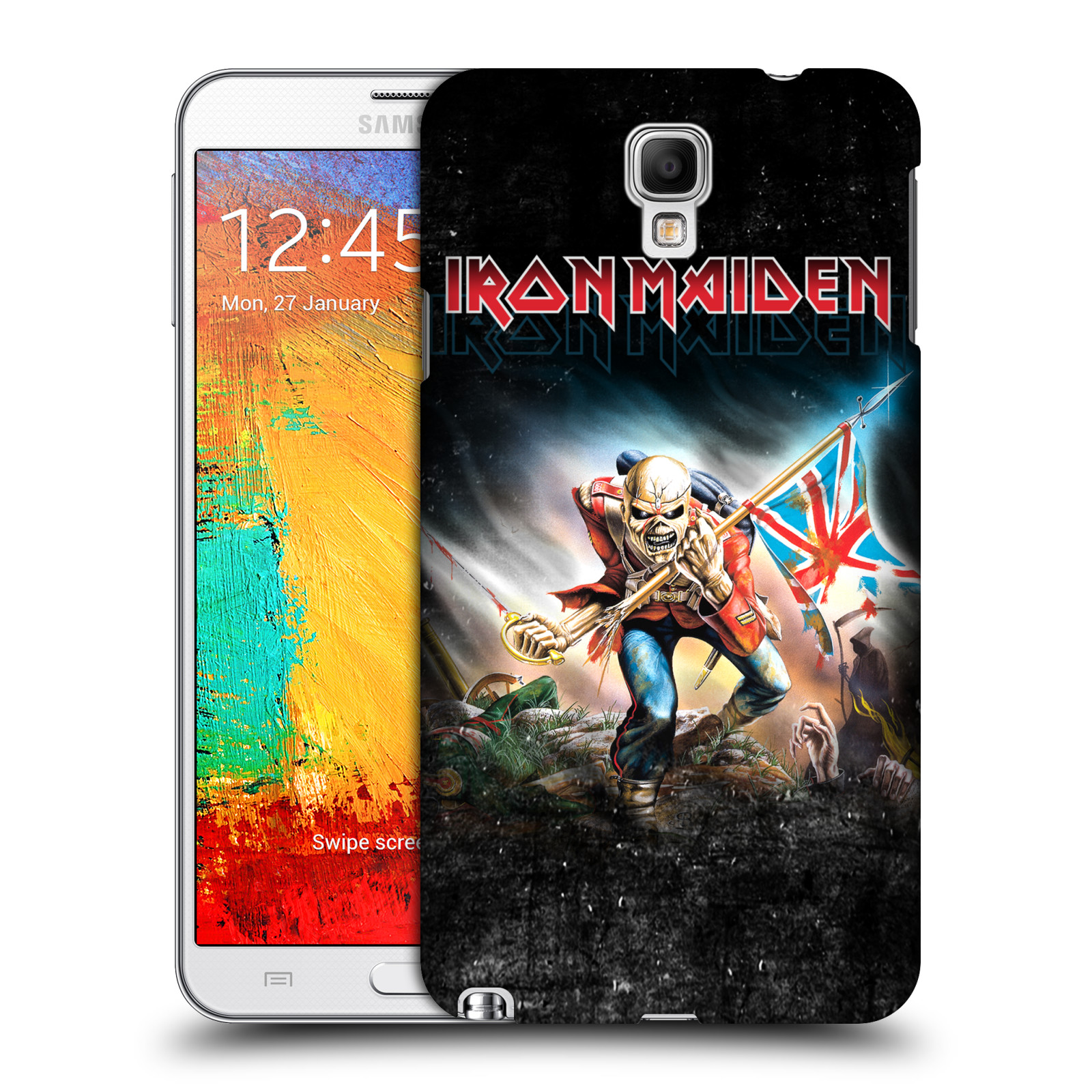 Plastové pouzdro na mobil Samsung Galaxy Note 3 Neo HEAD CASE - Iron Maiden - Trooper 2016