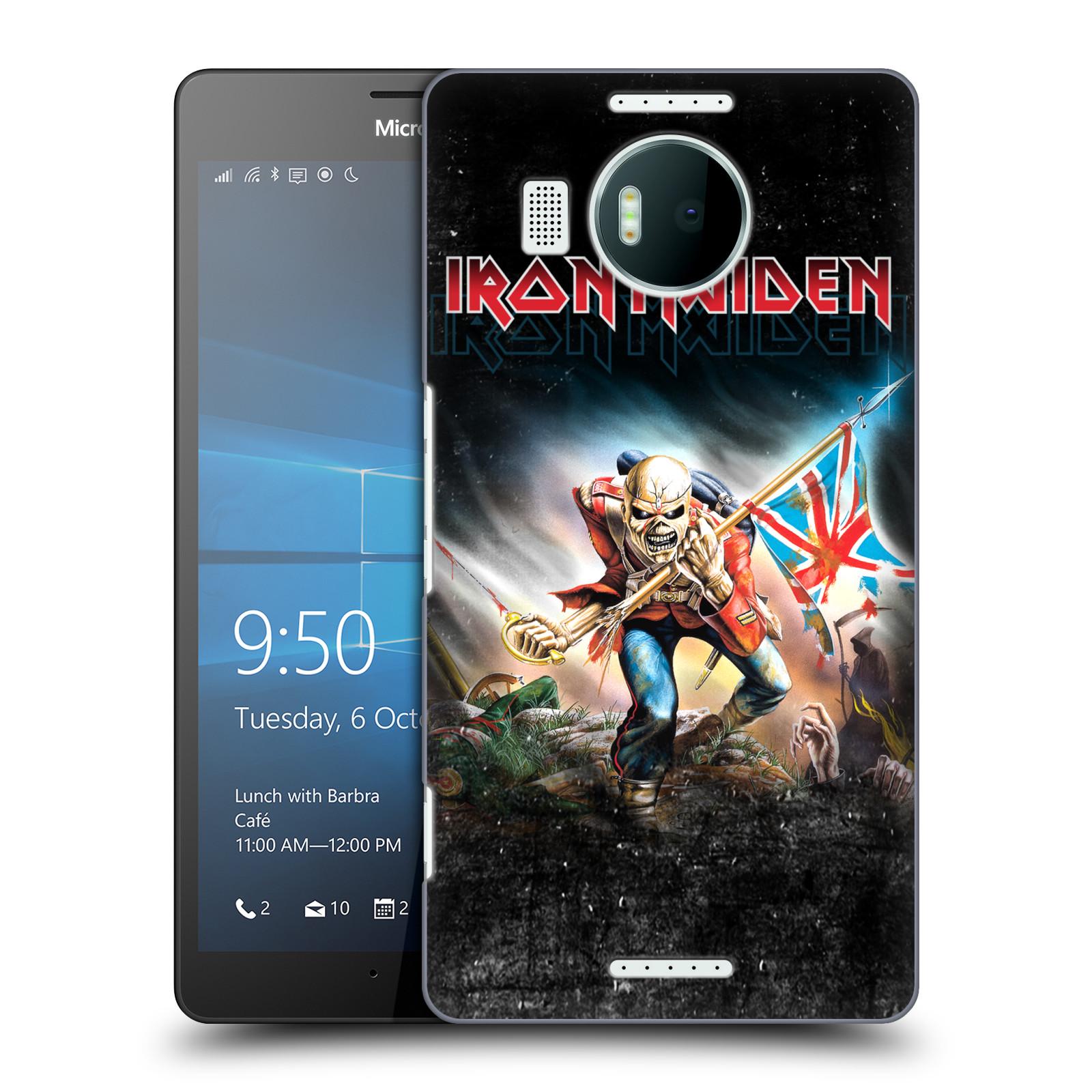 Plastové pouzdro na mobil Microsoft Lumia 950 XL HEAD CASE - Iron Maiden - Trooper 2016