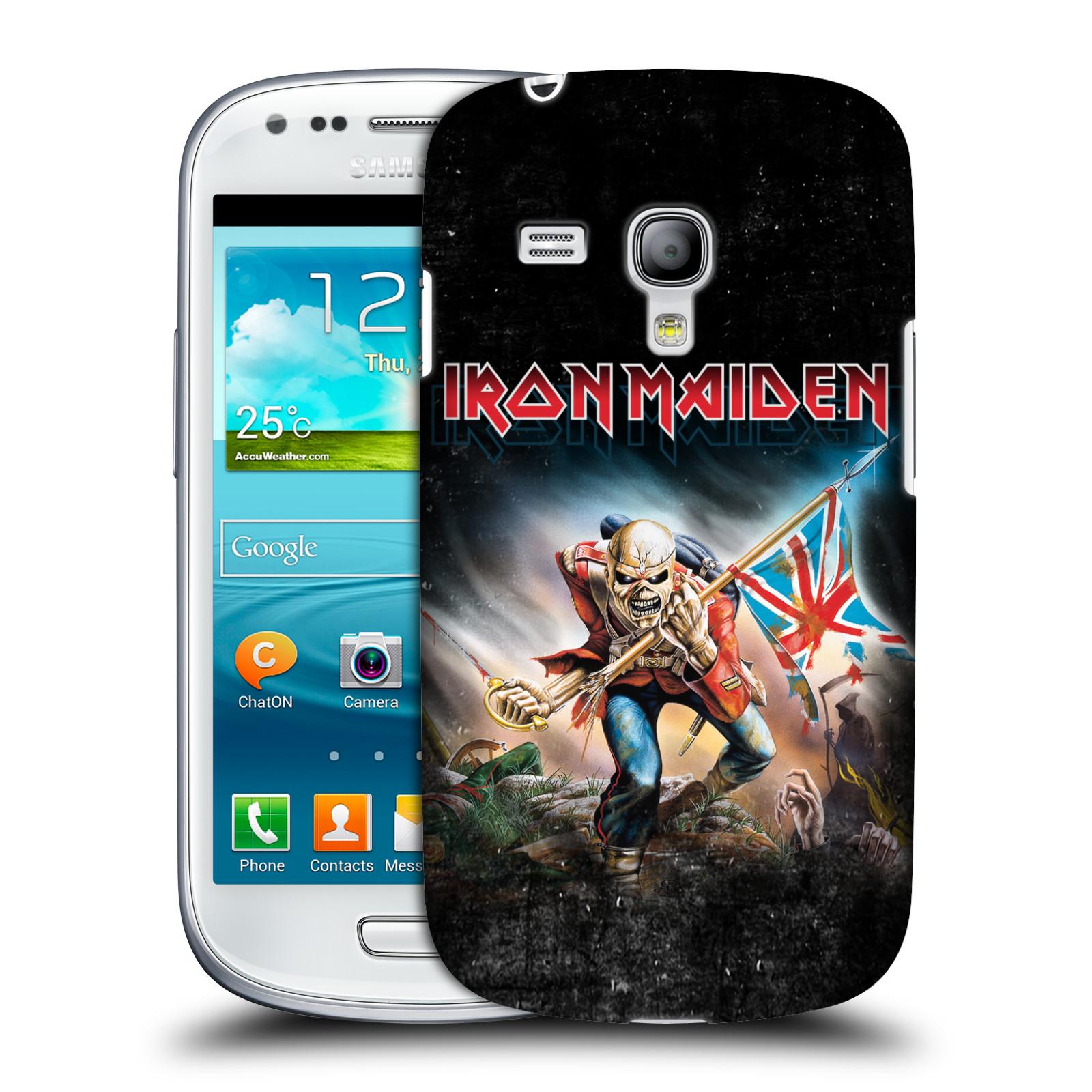 Silikonové pouzdro na mobil Samsung Galaxy S III Mini VE HEAD CASE - Iron Maiden - Trooper 2016 (Plastový kryt či obal na mobilní telefon s licencovaným motivem Iron Maiden Samsung Galaxy S3 Mini VE GT-i8200)