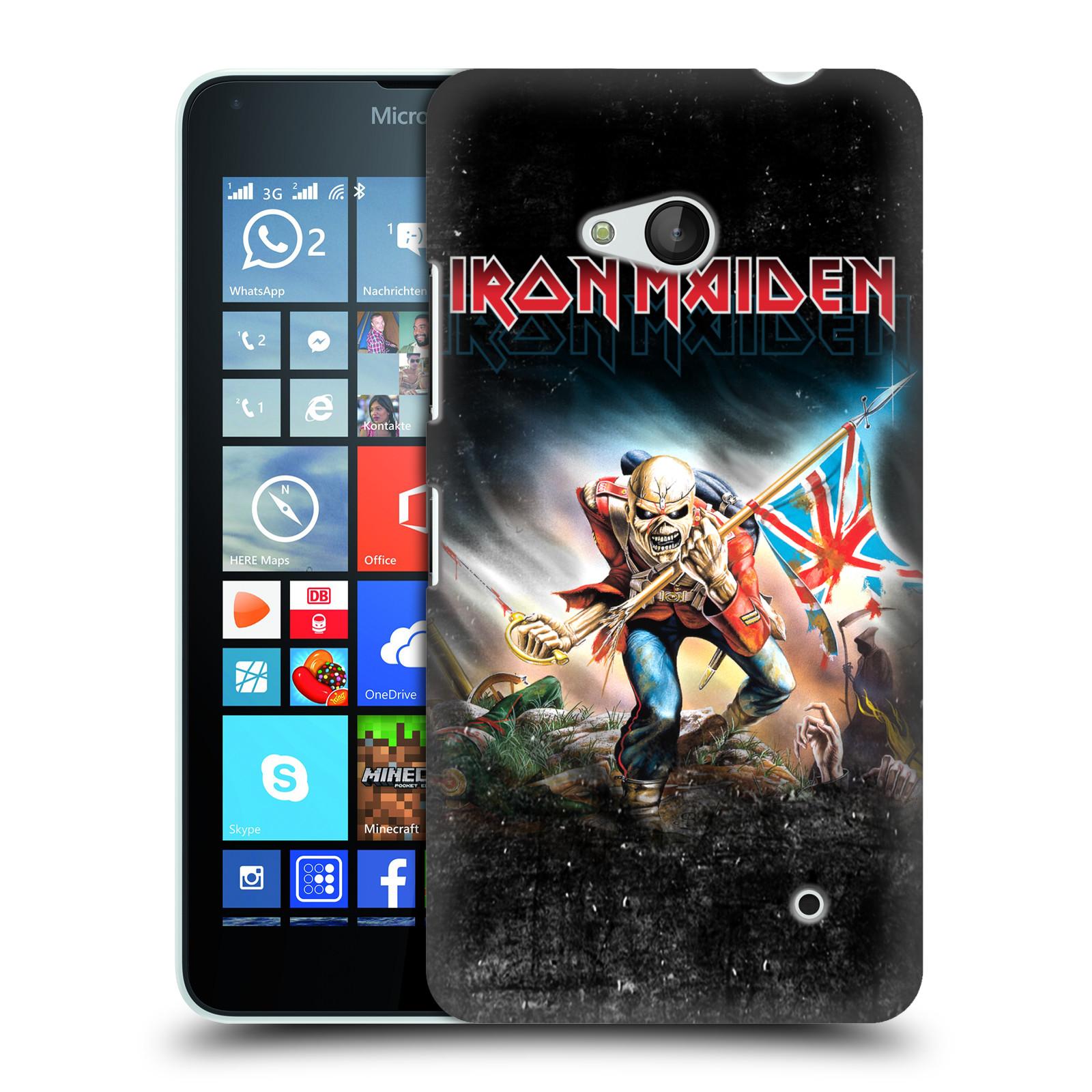 Plastové pouzdro na mobil Microsoft Lumia 640 HEAD CASE - Iron Maiden - Trooper 2016