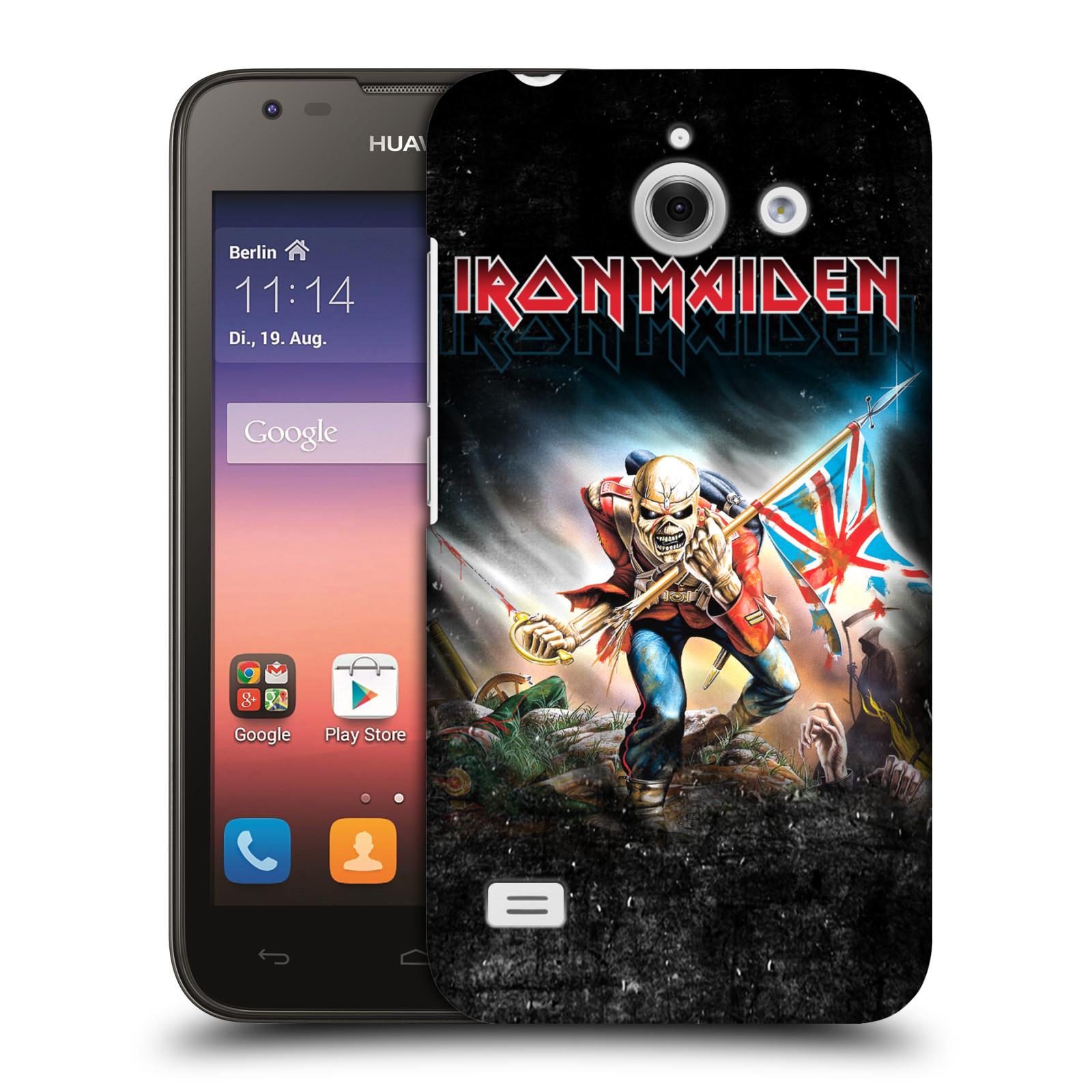 Plastové pouzdro na mobil Huawei Ascend Y550 HEAD CASE - Iron Maiden - Trooper 2016 (Plastový kryt či obal na mobilní telefon s licencovaným motivem Iron Maiden Huawei Ascend Y550)