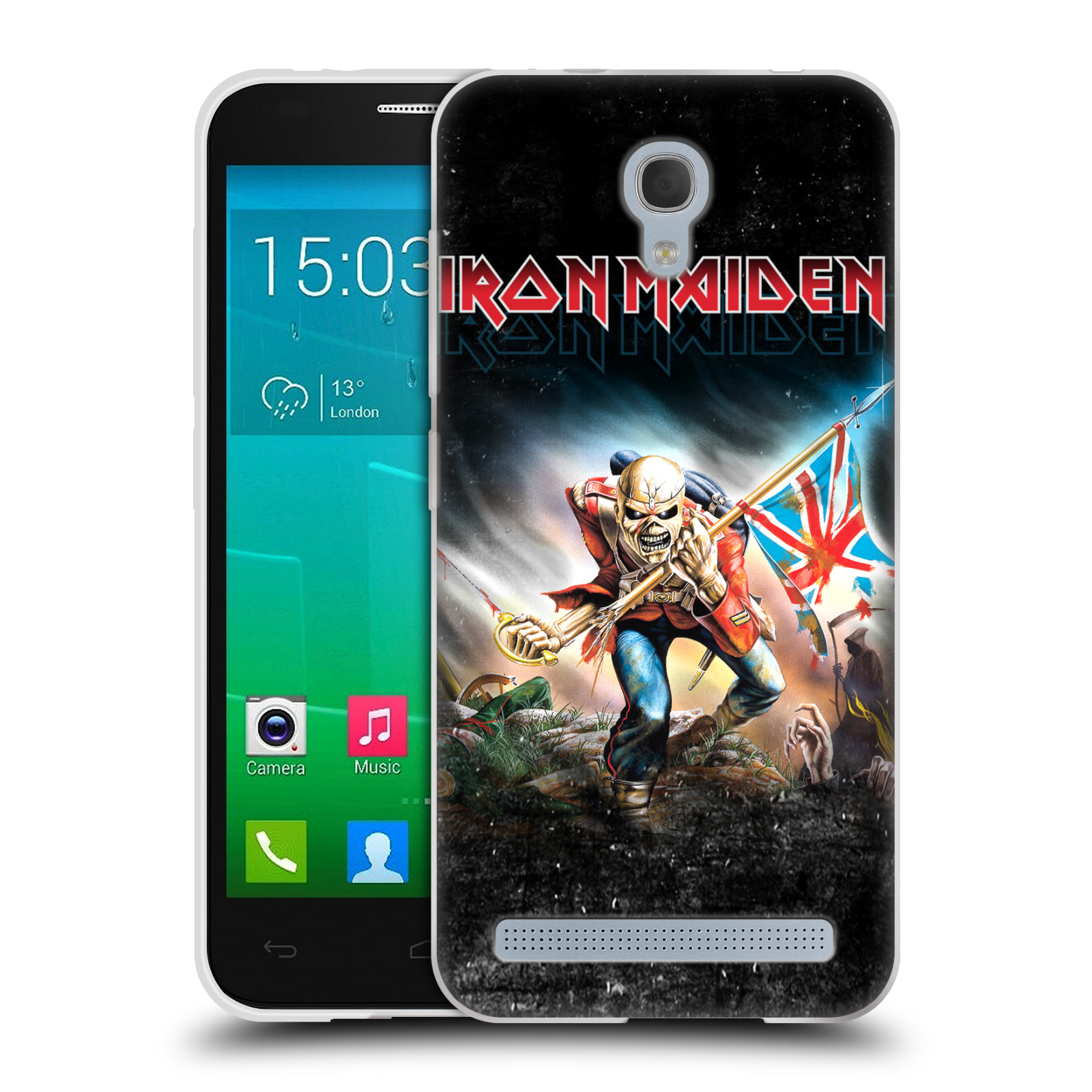 Silikonové pouzdro na mobil Alcatel One Touch Idol 2 Mini S 6036Y HEAD CASE - Iron Maiden - Trooper 2016 (Silikonový kryt či obal na mobilní telefon s licencovaným motivem Iron Maiden Alcatel Idol 2 Mini S OT-6036Y)