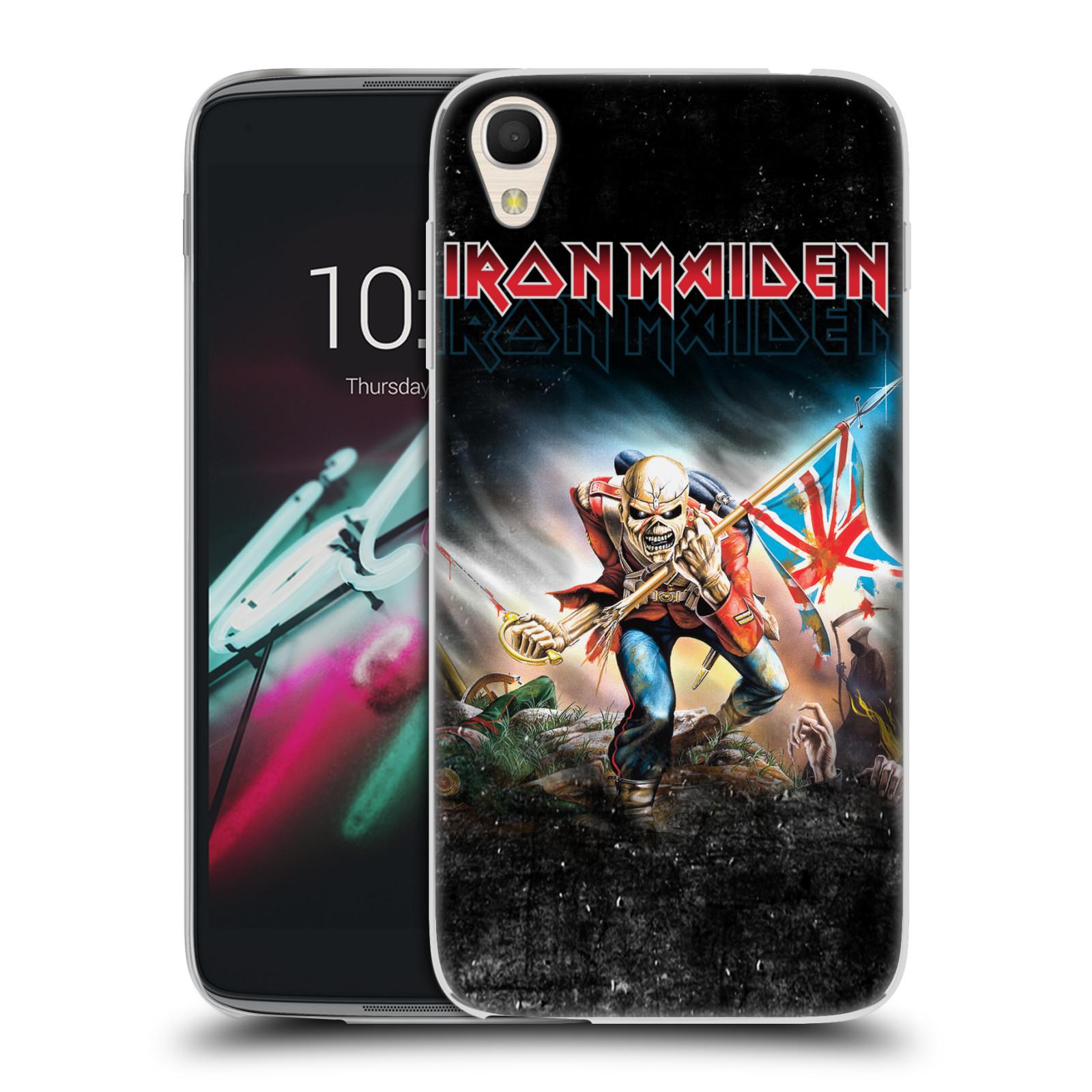 """Silikonové pouzdro na mobil Alcatel One Touch 6039Y Idol 3 HEAD CASE - Iron Maiden - Trooper 2016 (Silikonový kryt či obal na mobilní telefon s licencovaným motivem Iron Maiden Alcatel One Touch Idol 3 OT-6039Y s 4,7"""" displejem)"""