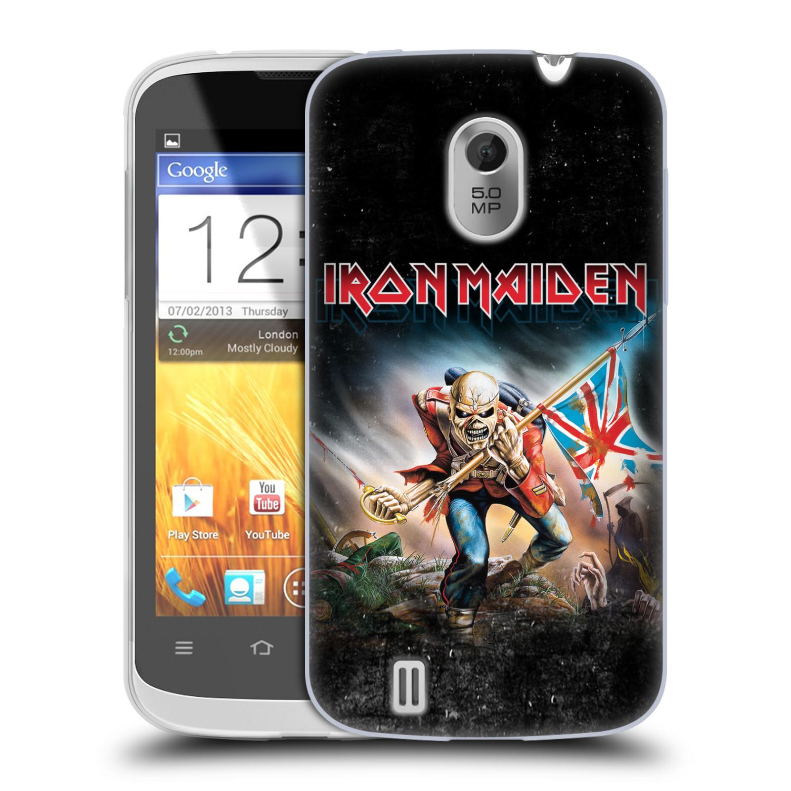 Silikonové pouzdro na mobil ZTE Blade III HEAD CASE - Iron Maiden - Trooper 2016 (Silikonový kryt či obal na mobilní telefon s licencovaným motivem Iron Maiden ZTE Blade 3)