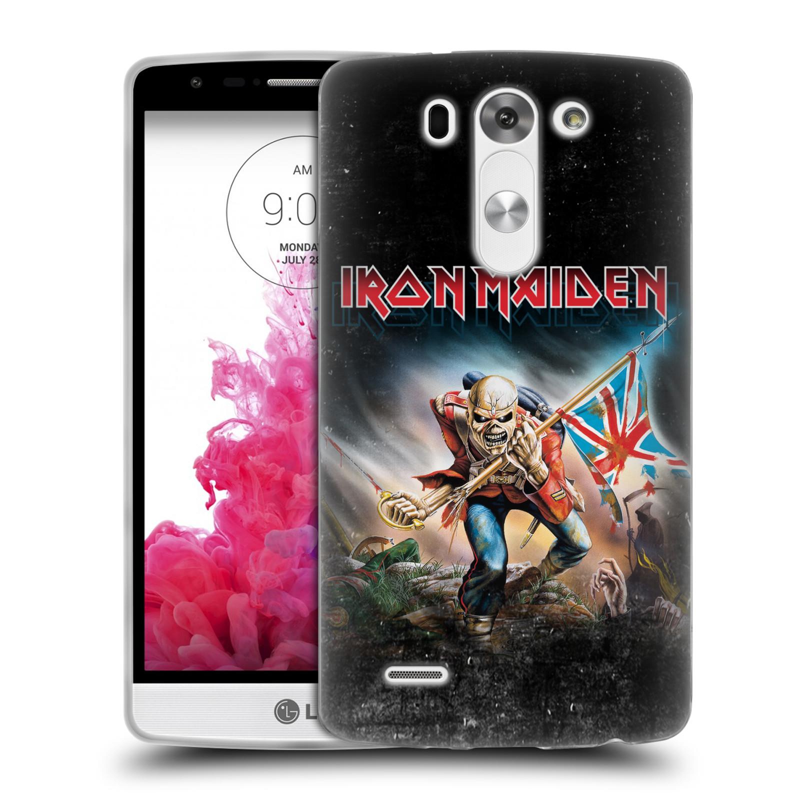 Silikonové pouzdro na mobil LG G3s HEAD CASE - Iron Maiden - Trooper 2016