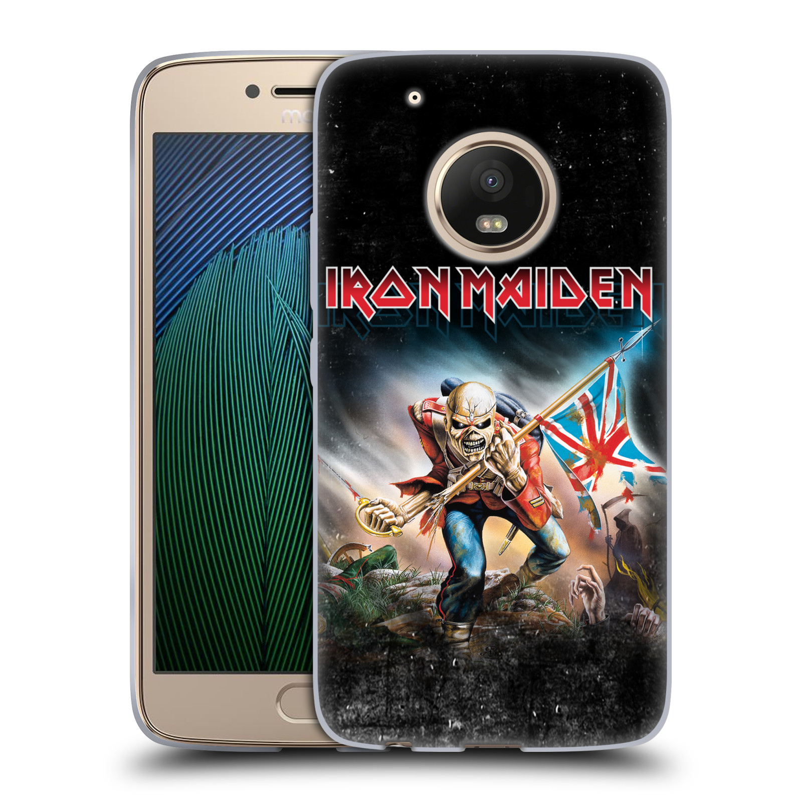 Silikonové pouzdro na mobil Lenovo Moto G5 Plus - Head Case - Iron Maiden - Trooper 2016