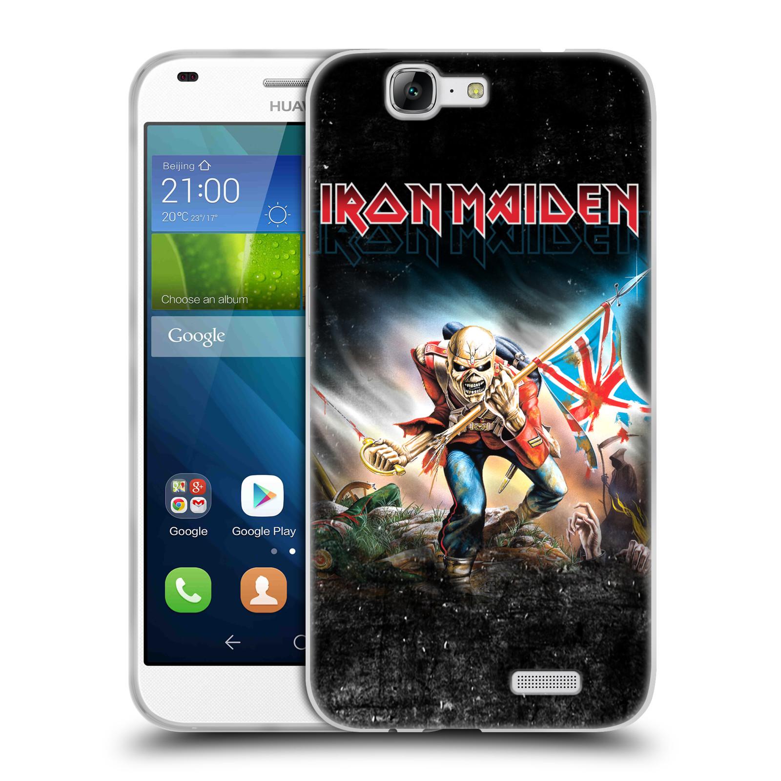 Silikonové pouzdro na mobil Huawei Ascend G7 HEAD CASE - Iron Maiden - Trooper 2016 (Silikonový kryt či obal na mobilní telefon s licencovaným motivem Iron Maiden Huawei Ascend G7)